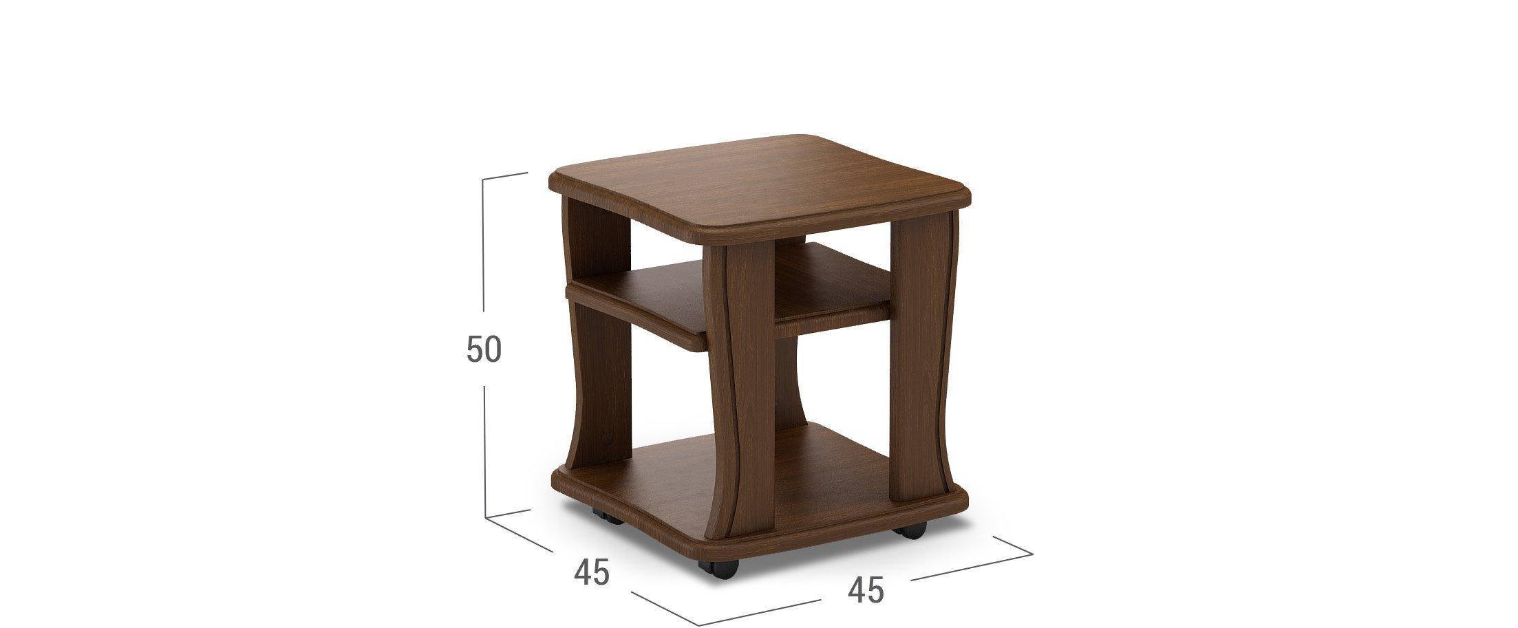 Деревянный столик журнальный