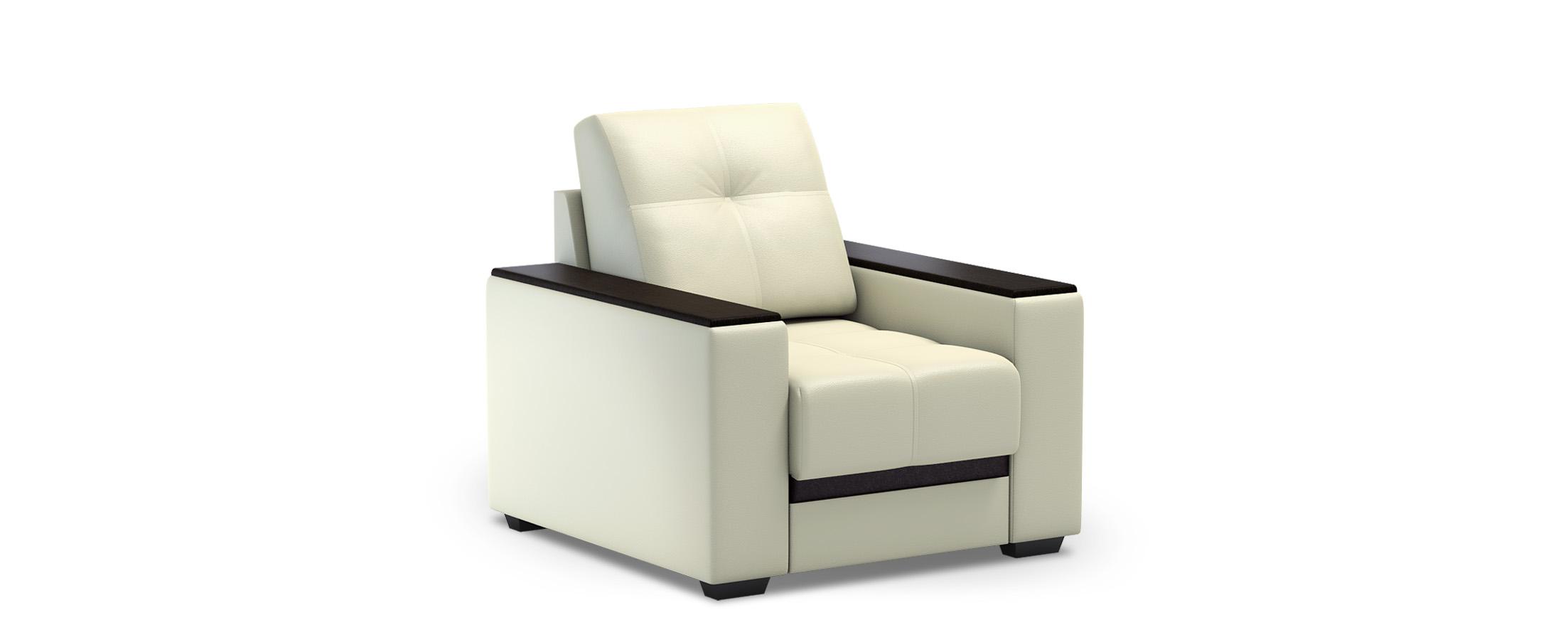 Кресло из экокожи Атланта 066Купить белое кресло-кровать Атланта 066. Доставка от 1 дня. Подъём, сборка, вынос упаковки. Гарантия 18 месяцев. Интернет-магазин мебели MOON TRADE.<br>