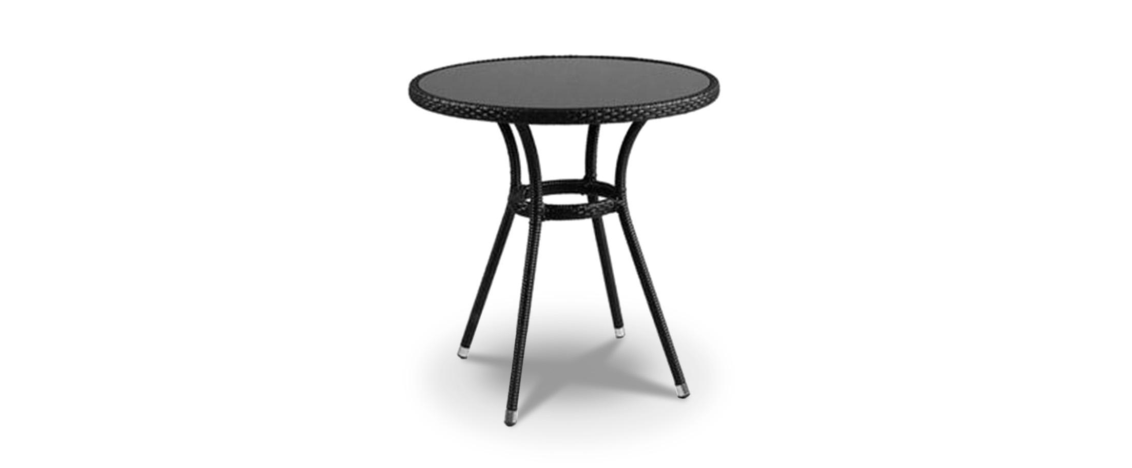 Стол круглый Модель 296Решение для дачи в классическом стиле. Сидеть за таким столом так же уютно, как в одном из открытых французских кафе. Сделан из искусственного ротанга.<br>