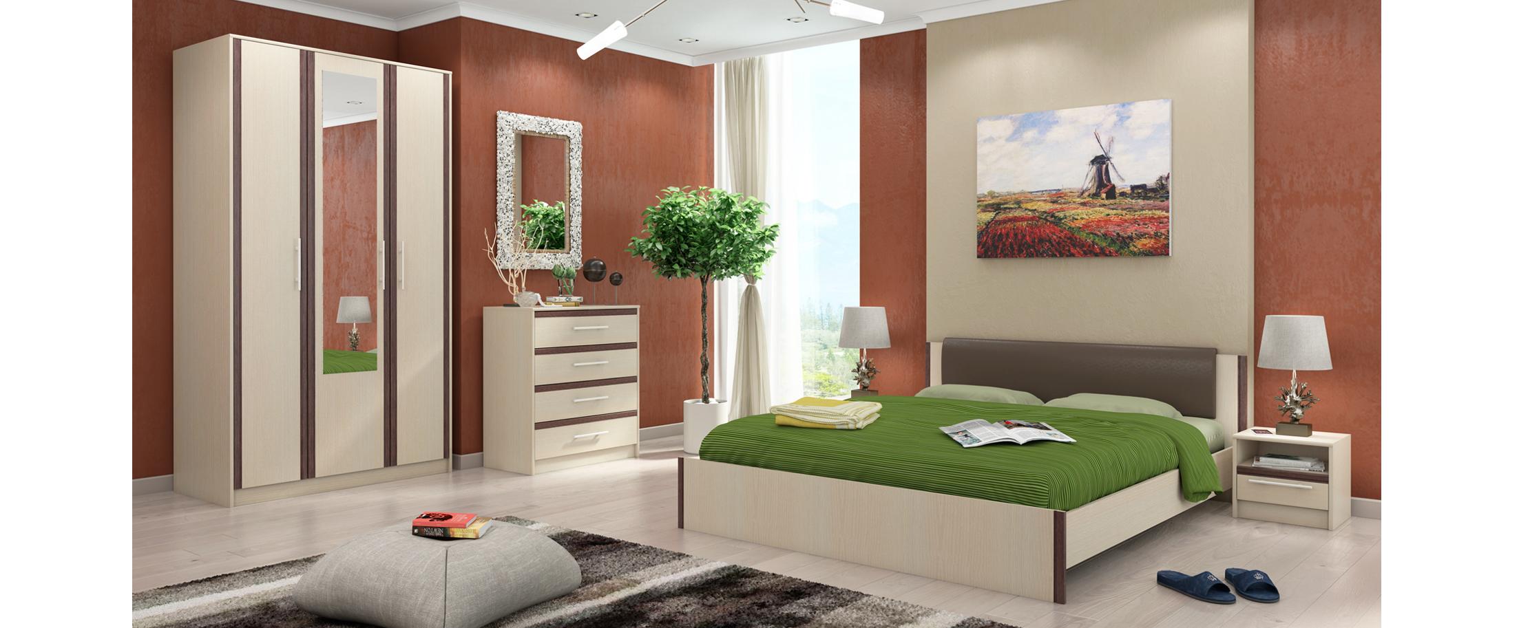Спальня Новелла Модель 337Минимальный набор из самого необходимого. Кровать 160х59х213, тумба прикроватная 2 шт 39х36х41. Цвет белый дуб. Гарантия 18 месяцев. Доставка от 1 дня.<br>