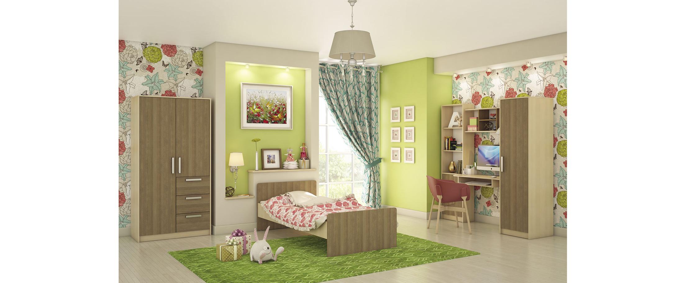 Детская цвета дуб кремона Мика 3 Модель 349Купить набор уютной и комфортной детской мебели в интернет магазине MOON TRADE. Спальное место 90х190 см. Быстрая доставка, вынос упаковки, гарантия! Выгодная покупка!<br>