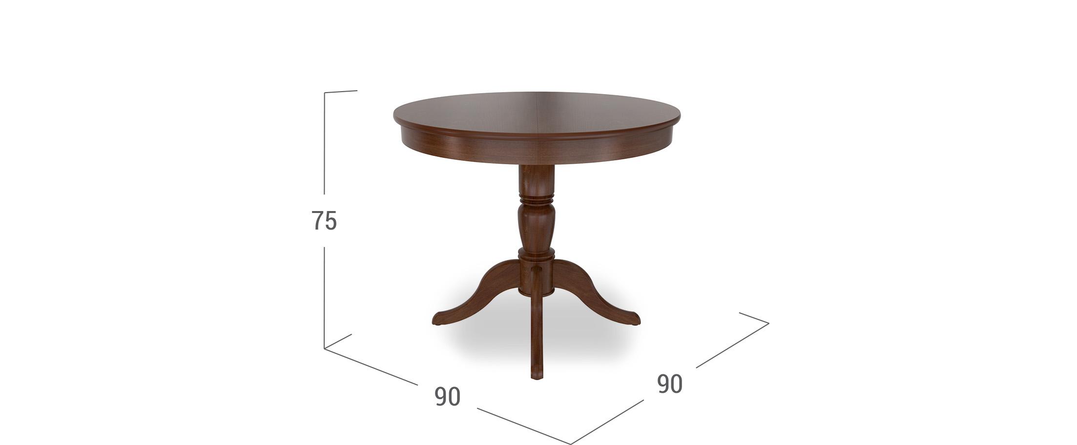 Стол Фламинго 1 Темный орех Модель 370
