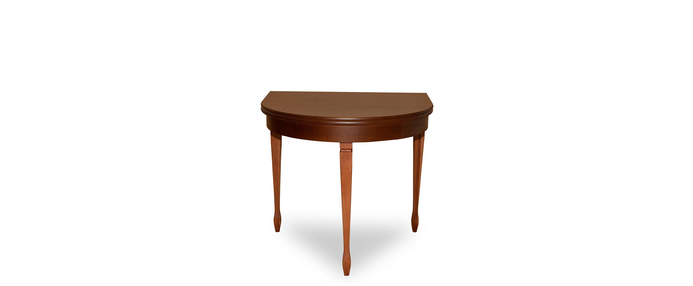 Стол обеденный Фламинго 7 Американский орех Модель 370Ножки стола из массива дерева, столешница из шпона МДФ. Не образует трещин, идеально сохраняет компактную полукруглую форму. Гарантия 18 месяцев. Доставка от 1 дня. Цвет коричневый.<br>