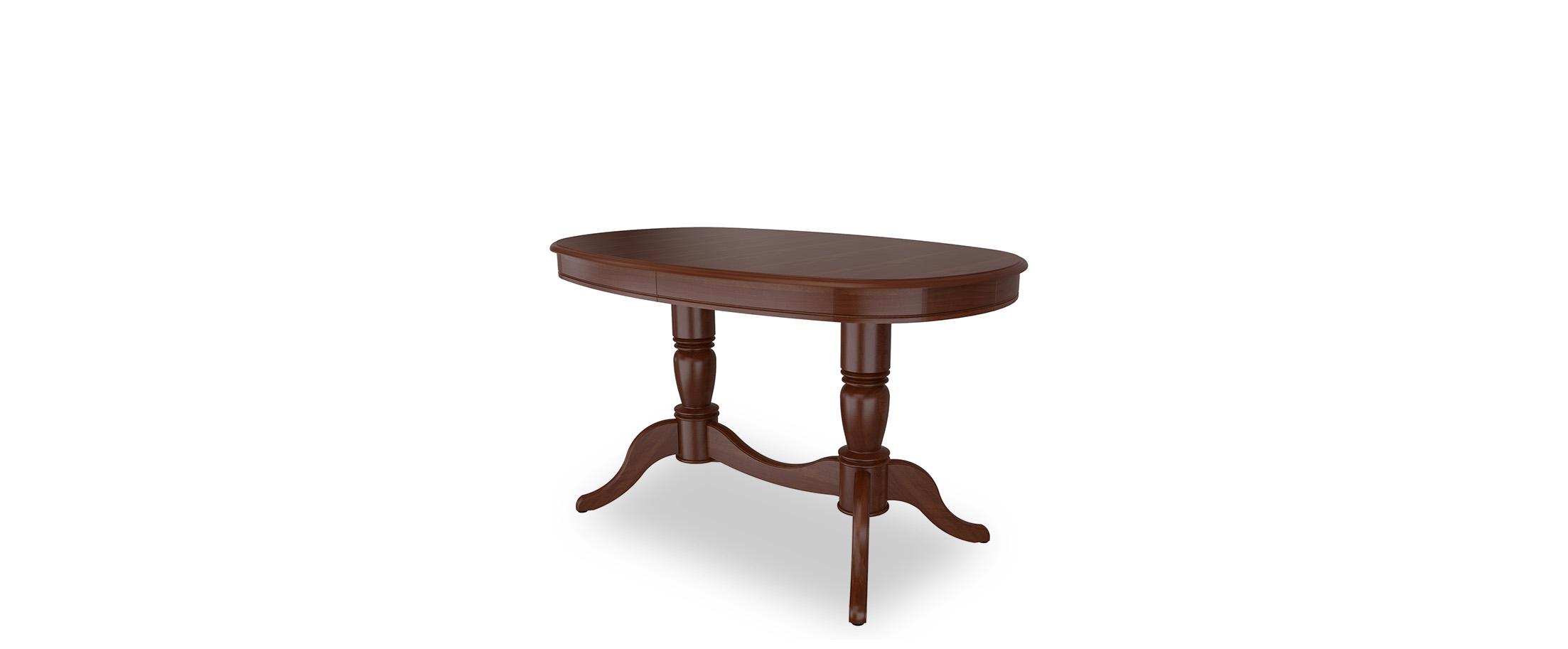 Стол обеденный Фламинго 9 Тёмный орех Модель 370Ножки стола из массива дерева, столешница из шпона МДФ. Не образует трещин, идеально сохраняет компактную овальную форму. Гарантия 18 месяцев. Доставка от 1 дня. Артикул: Д000131.<br>