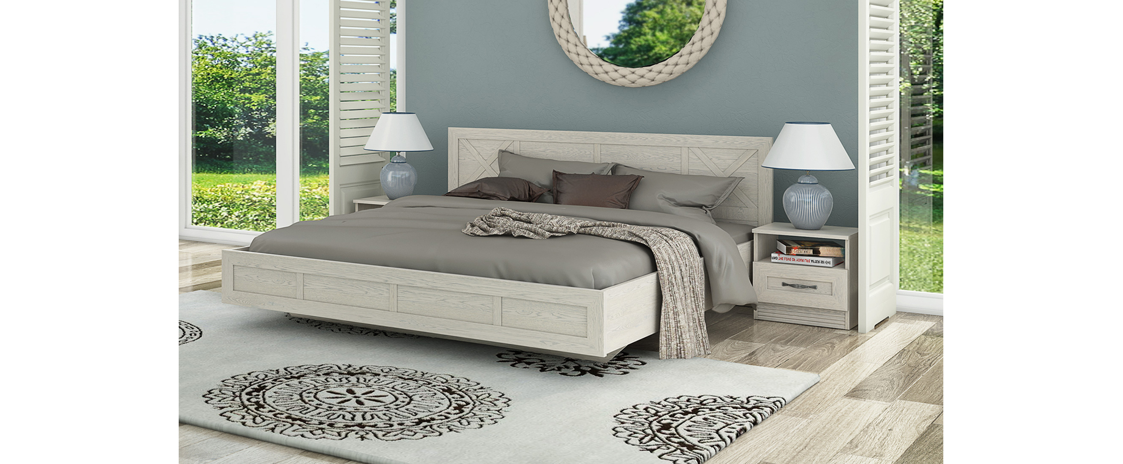 Кровать двуспальная Лозанна Модель 290