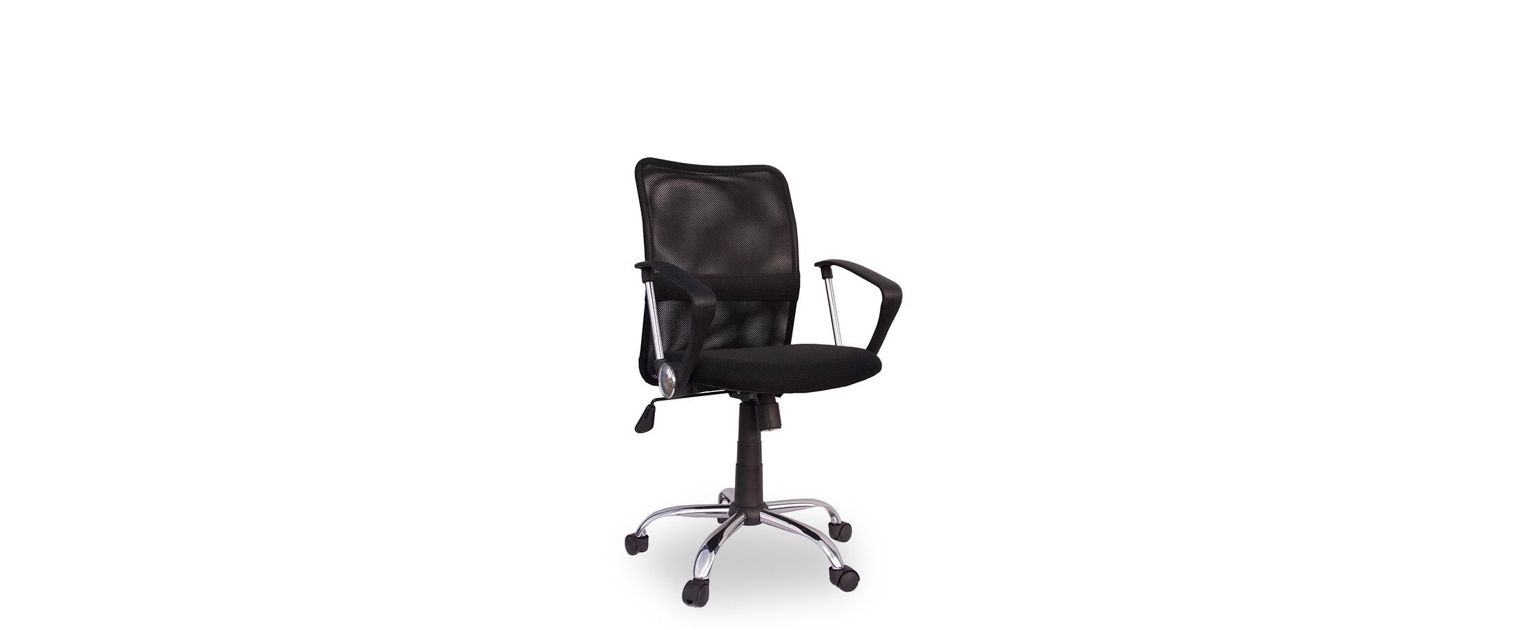 Кресло офисное Трикс Т-502 Модель 376Механизм подъёма и опускания: газ-лифт. Крестовина из хромированного металла. Максимальная нагрузка 120 кг. Доставка от 1 дня. Купить чёрное кресло в интернет-магазине MOON TRADE.<br>