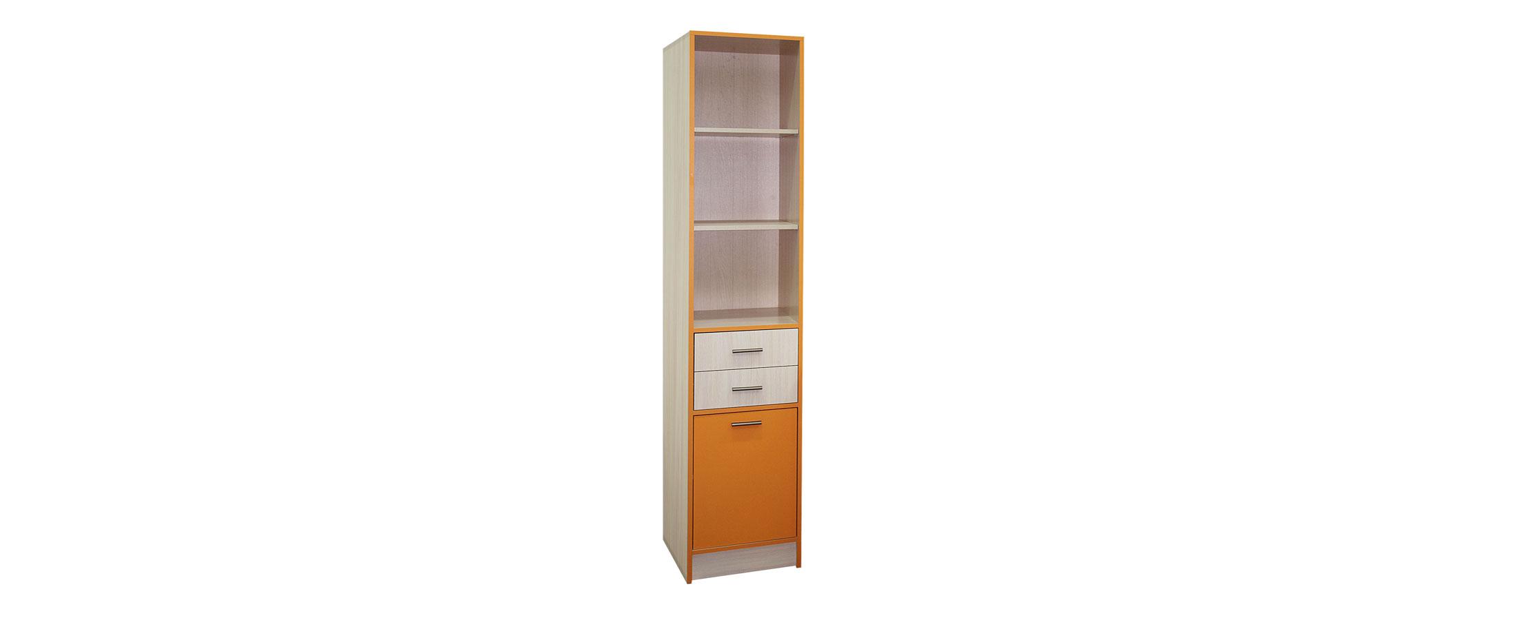 Шкаф для книг Скейт-3 Модель 507Пенал с тремя вместительными открытыми полками и тремя закрытыми ящиками. Позволит сохранить порядок в комнате и на рабочем столе. Доставка от 1 дня.<br>