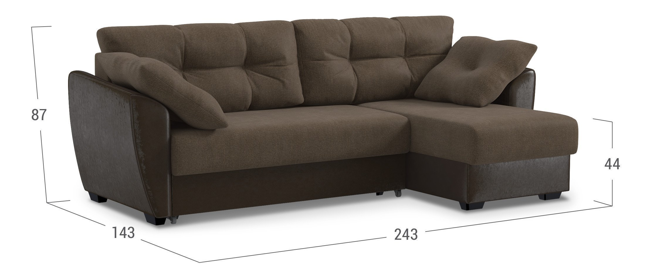 Коричневый диван Москва