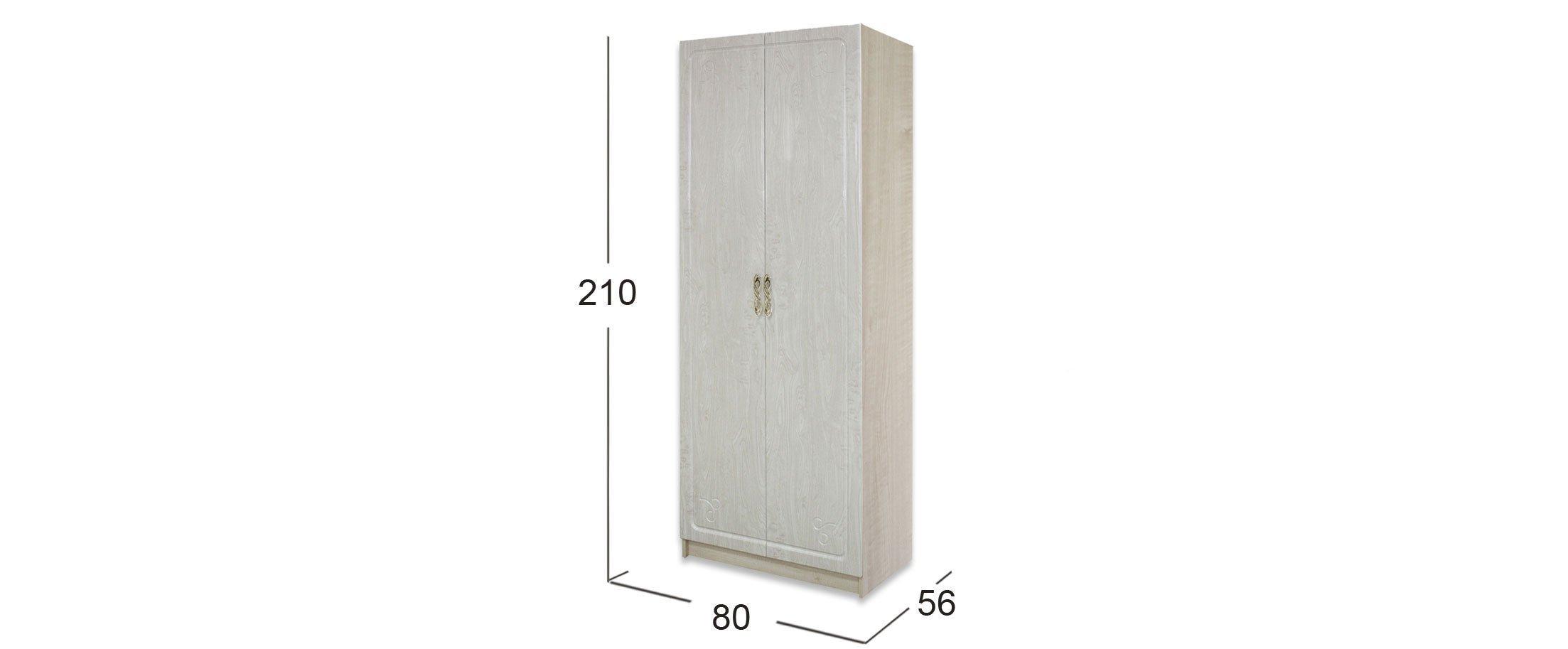Шкаф 2-дверный Афина-4 Клен Модель 509