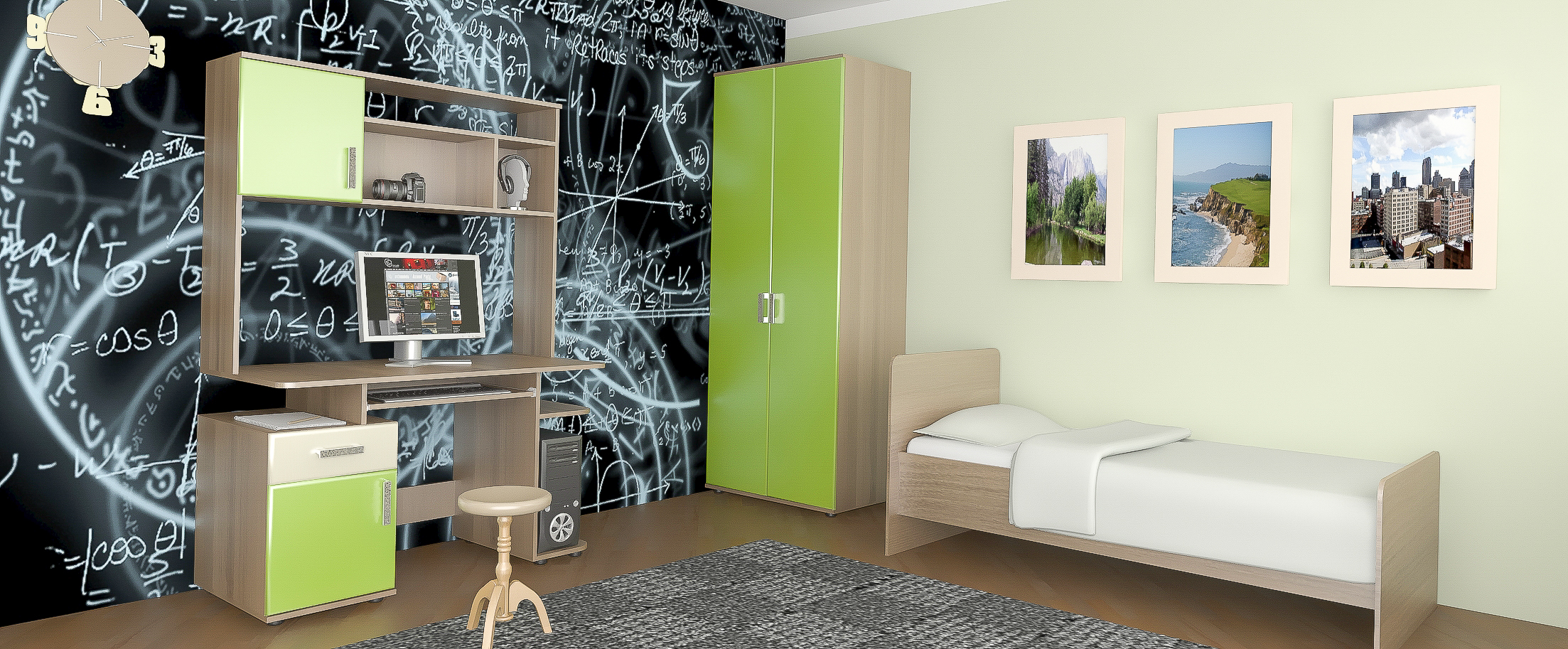 Детская цвета олива Дебют-2 Модель 511Купить набор уютной и комфортной детской мебели в интернет магазине MOON TRADE. Спальное место 90х200 см. Быстрая доставка, вынос упаковки, гарантия! Выгодная покупка!<br>