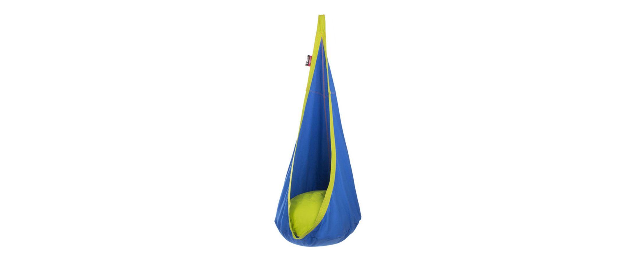Детское подвесное кресло blueberry Модель 365Детское подвесное кресло Модель 365 артикул С000090<br><br>Ширина см: 70<br>Глубина см: 70<br>Высота см: 150<br>Максимальная нагрузка : 160<br>Количество человек : 1<br>Цвет: Синий<br>Материал: Хлопок