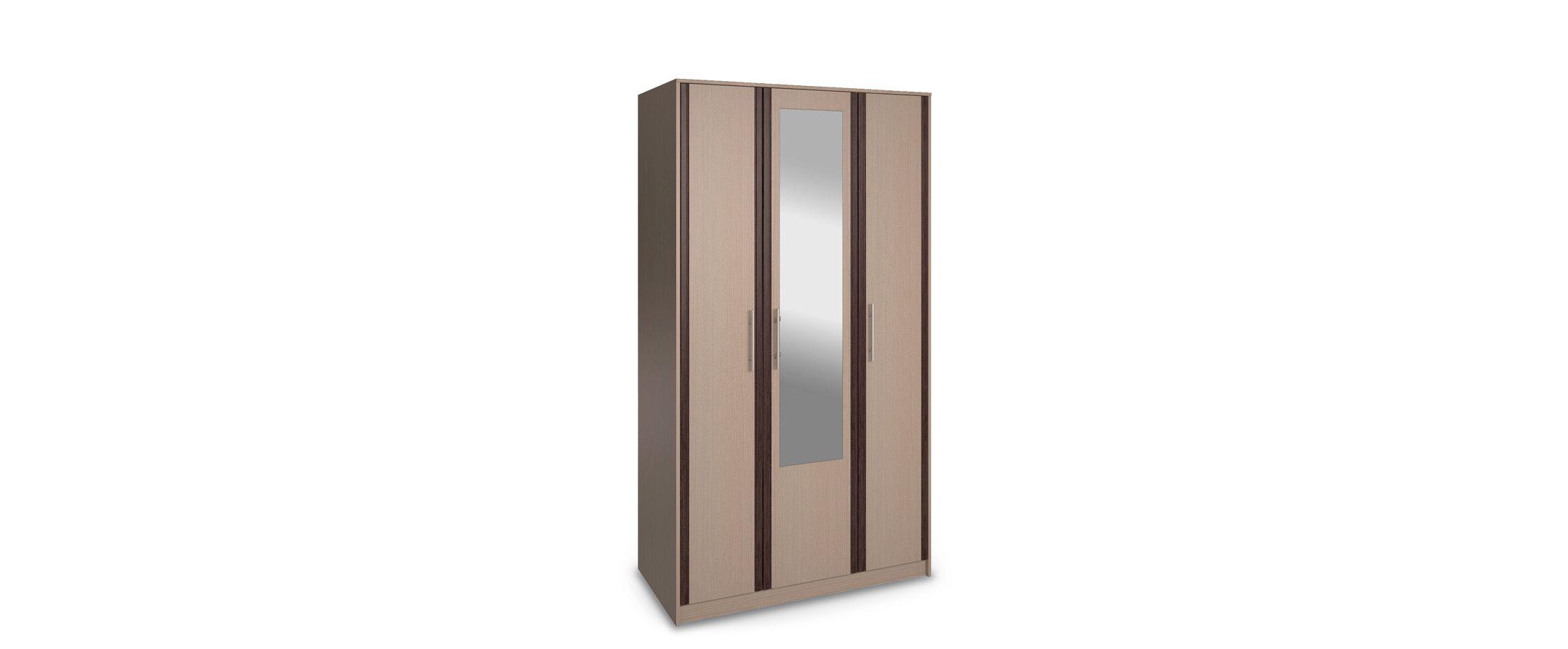 Шкаф 3-дверный с зеркалом НовеллаШкаф 3-дверный с зеркалом Новелла Модель 292. Артикул Ш000077.<br>