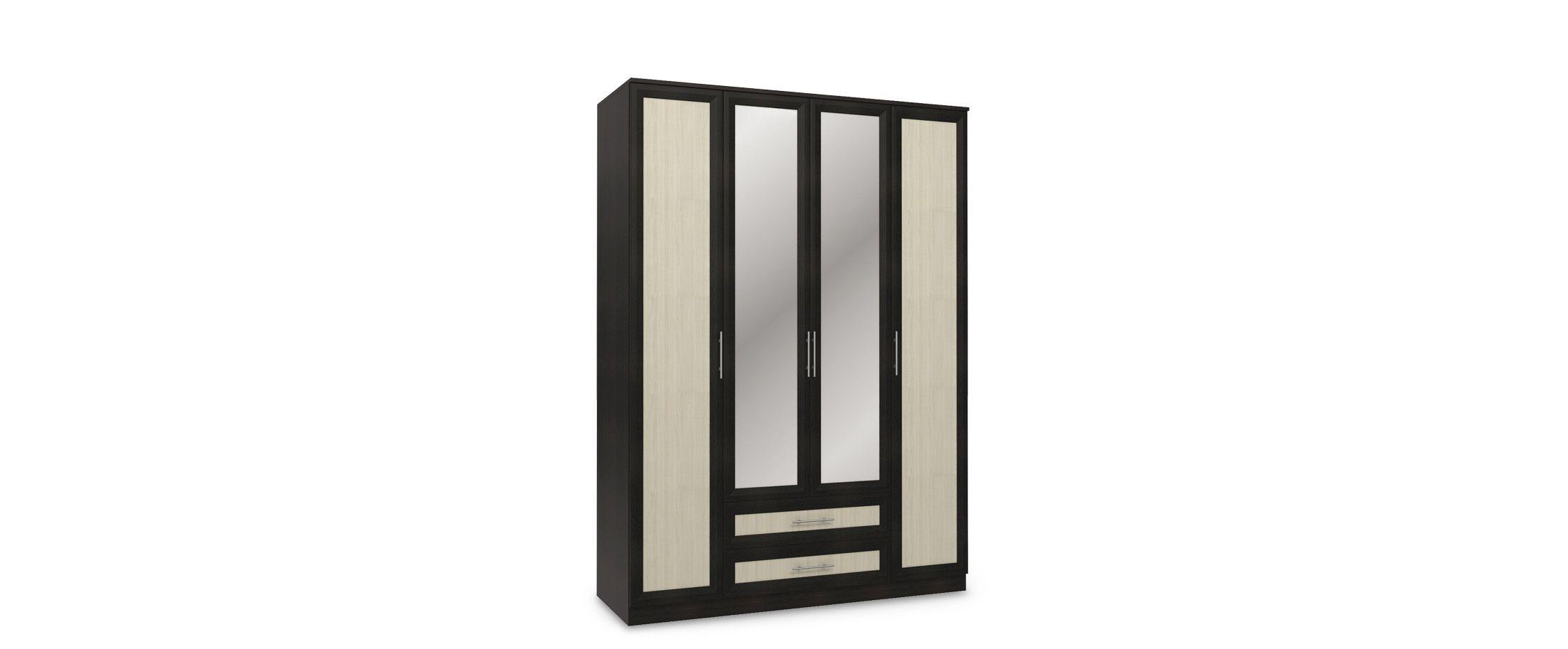 Шкаф 4-дверный с зеркалами Юлианна от MOON TRADE