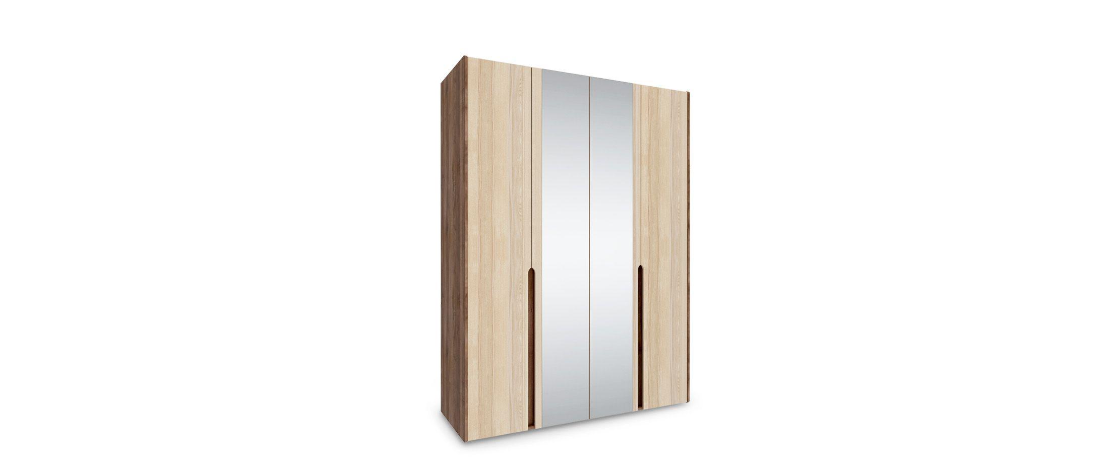 Шкаф 4-дверный с зеркалом Ребекка от MOON TRADE