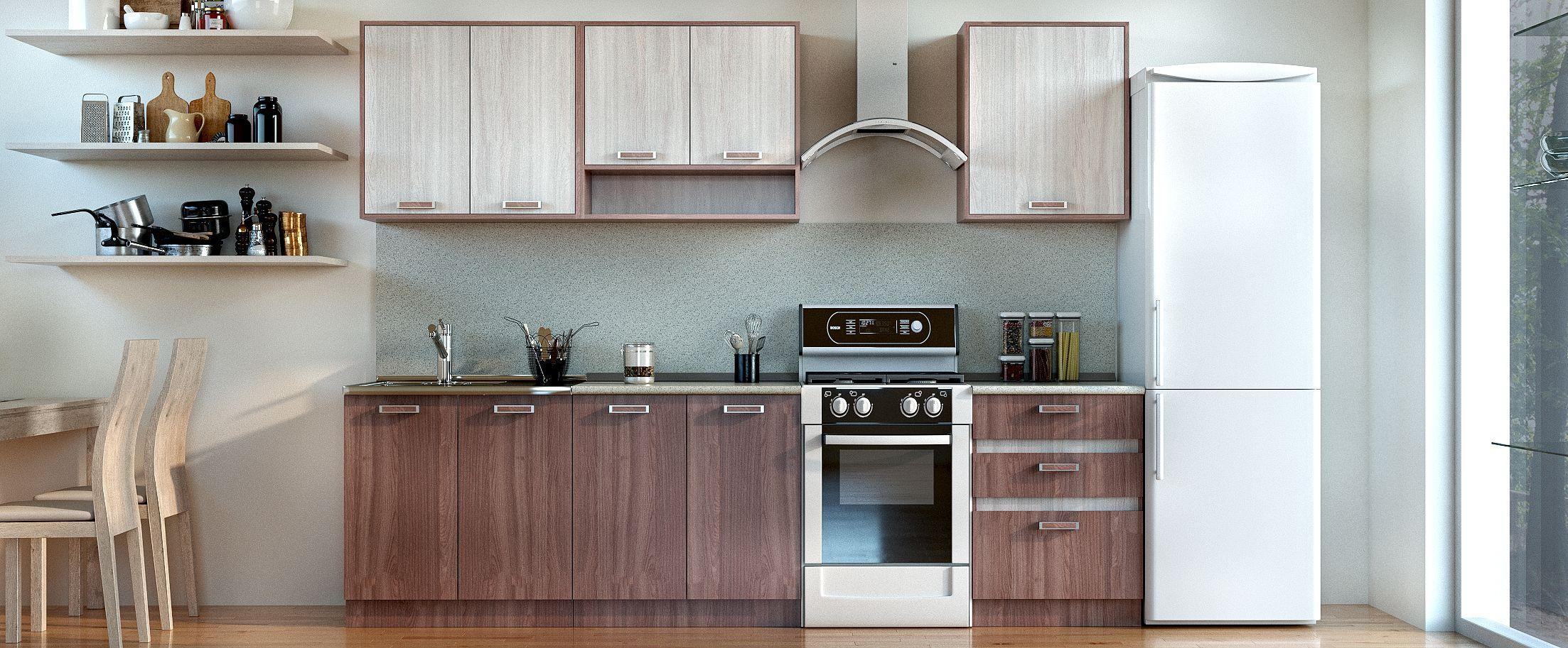 Кухня Шимо темный 2,2 мКупить удобный и практичный набор кухонного гарнитура в интернет магазине MOON TRADE. Быстрая доставка, вынос упаковки, гарантия! Выгодная покупка!<br>