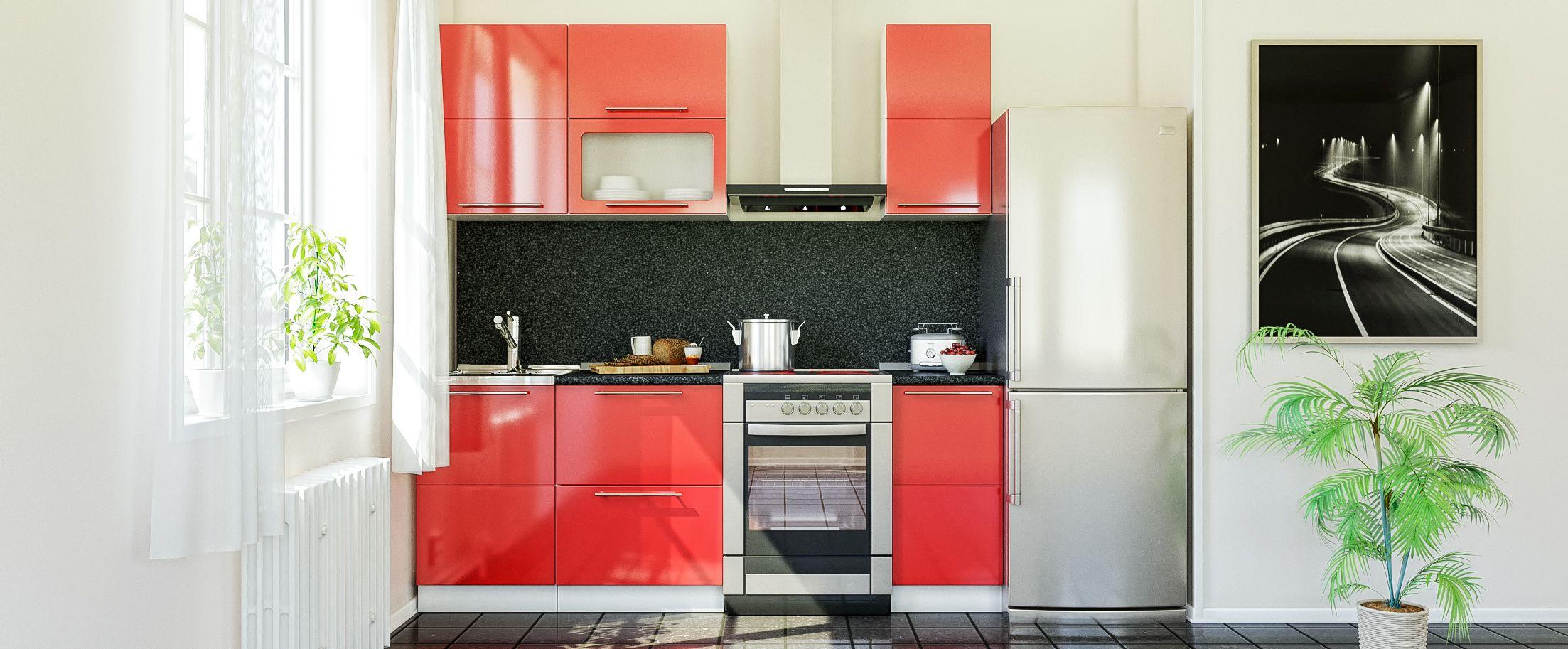 Кухня Красный глянец 1,5 м от MOON TRADE
