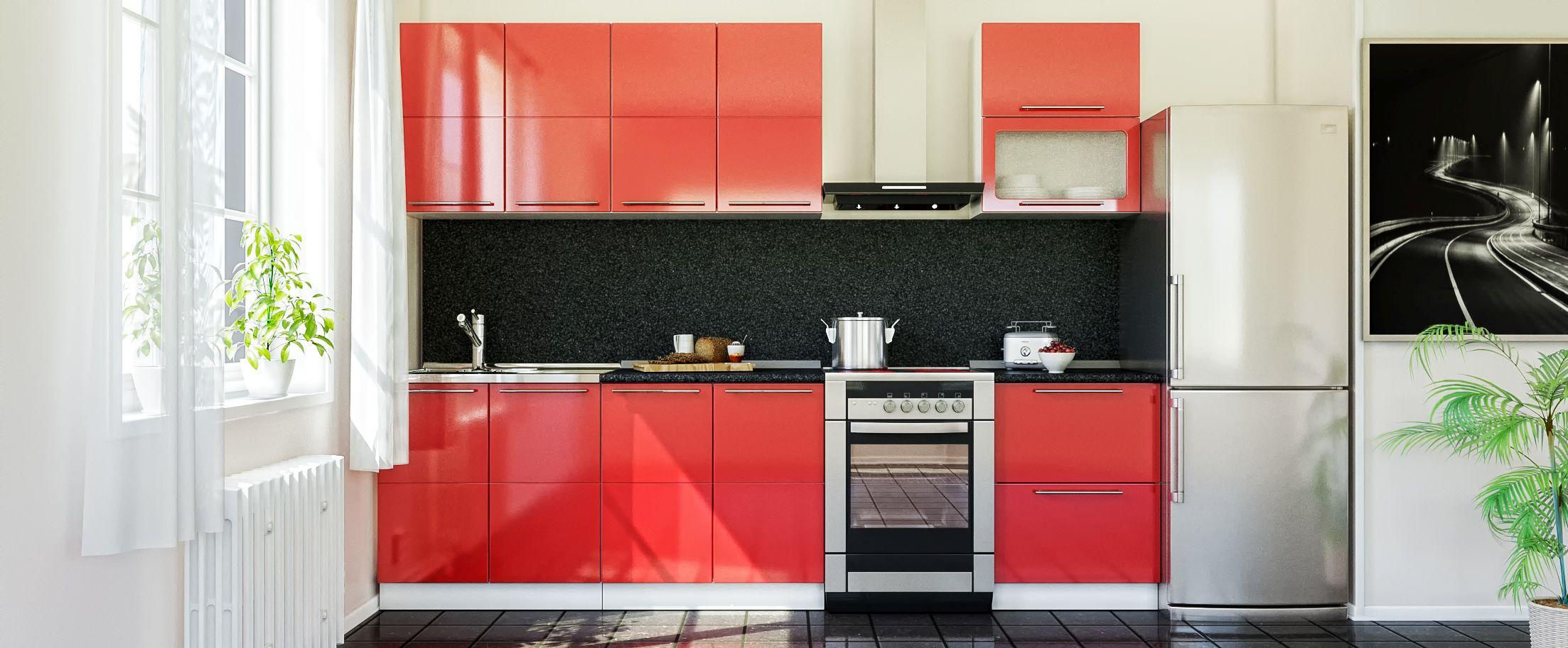 Кухня Красный глянец 2,2 м от MOON TRADE