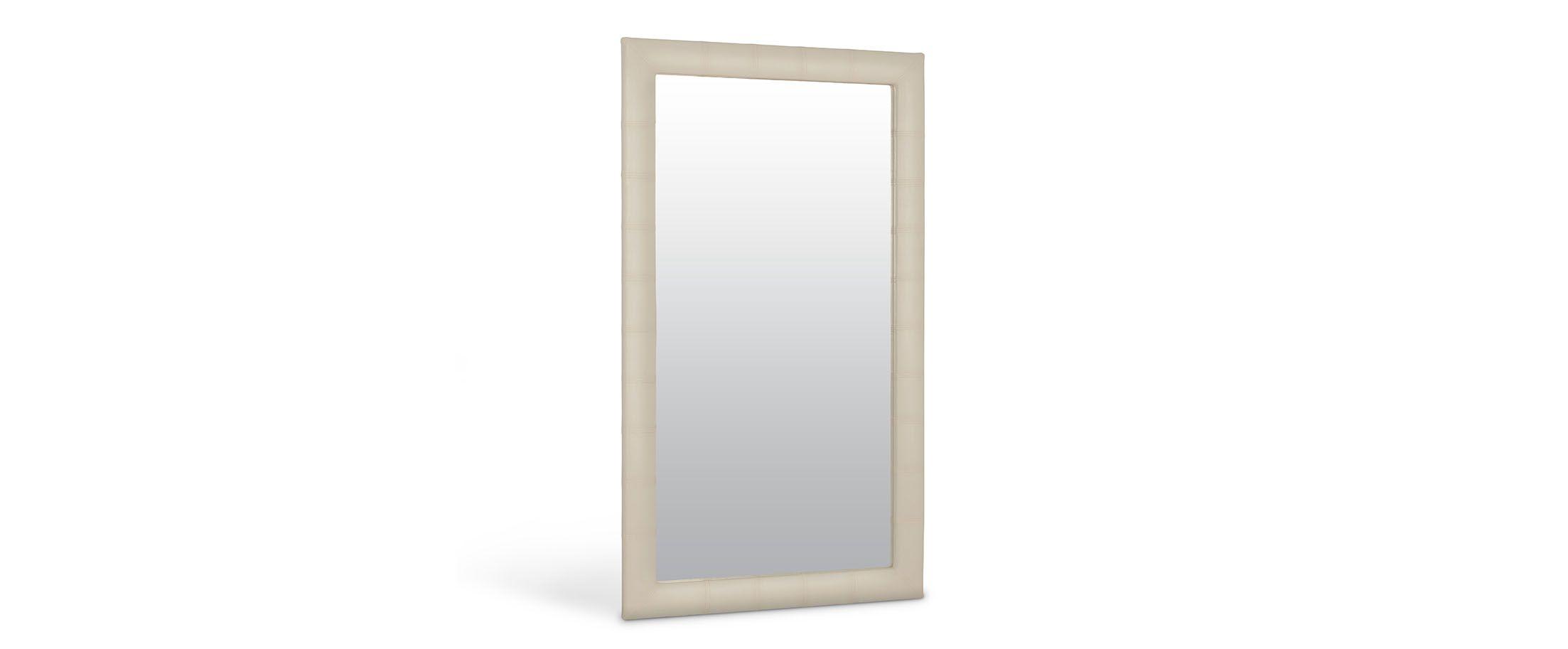 Зеркало Кааба большое суфлеЗеркало навесное в спальню. Обивка из экокожи. Артикул: К000447