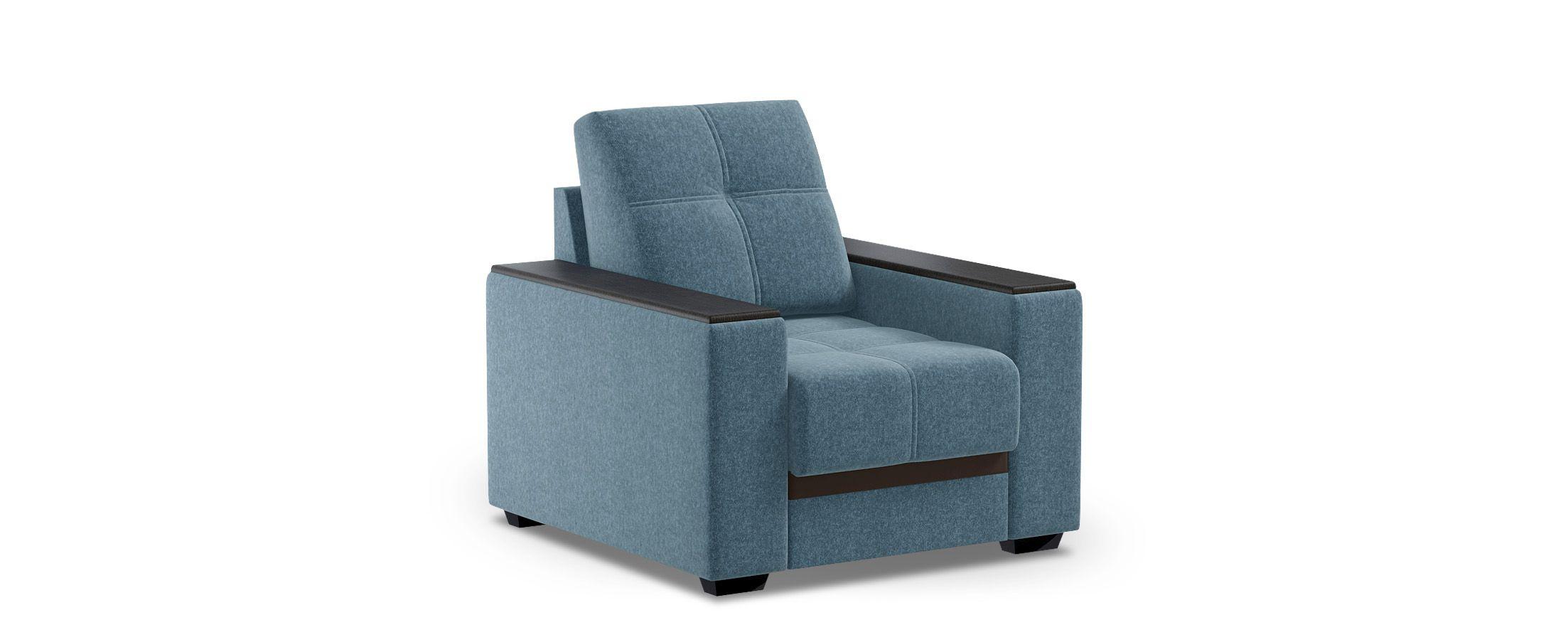 Кресло тканевое Атланта 066Купить синее кресло Атланта. Материал обивки - велюр, экокожа. Подлокотники цвета венге. Габариты 91х98х90 см. Доставим от 1 дня, поднимем и соберём.<br>