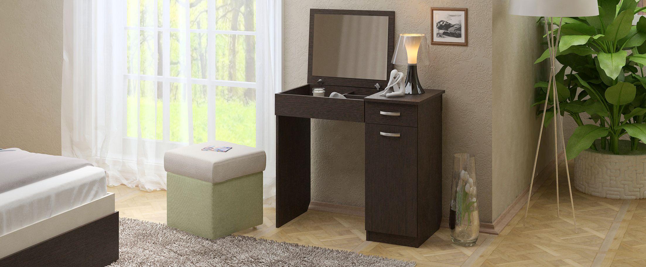 Туалетный столик Риано 4 Модель 802Туалетные столики «Риано» — изящное и стильное решение для современной спальни и других помещений.<br>
