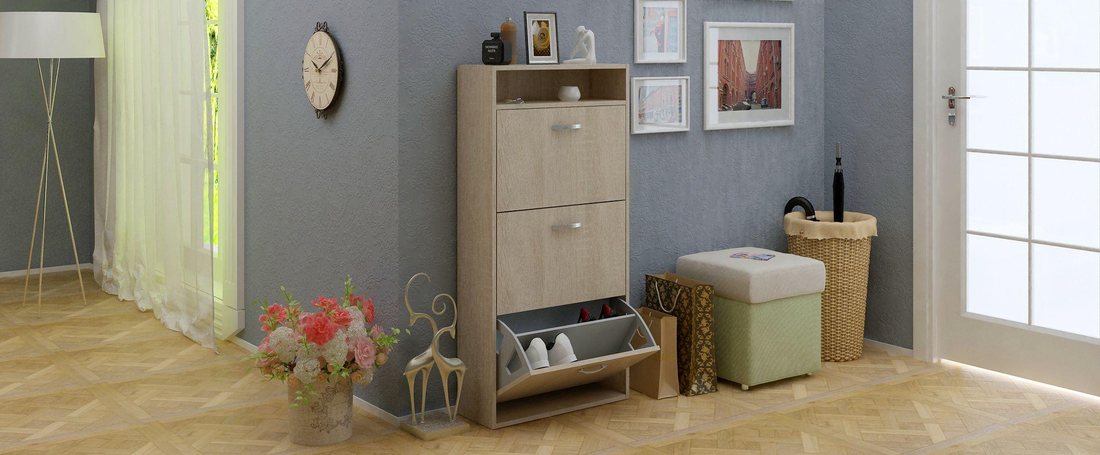 Обувница Милан 26 Модель 818Обувница Милан 26 — отличный пример функциональности при небольших размерах.<br>
