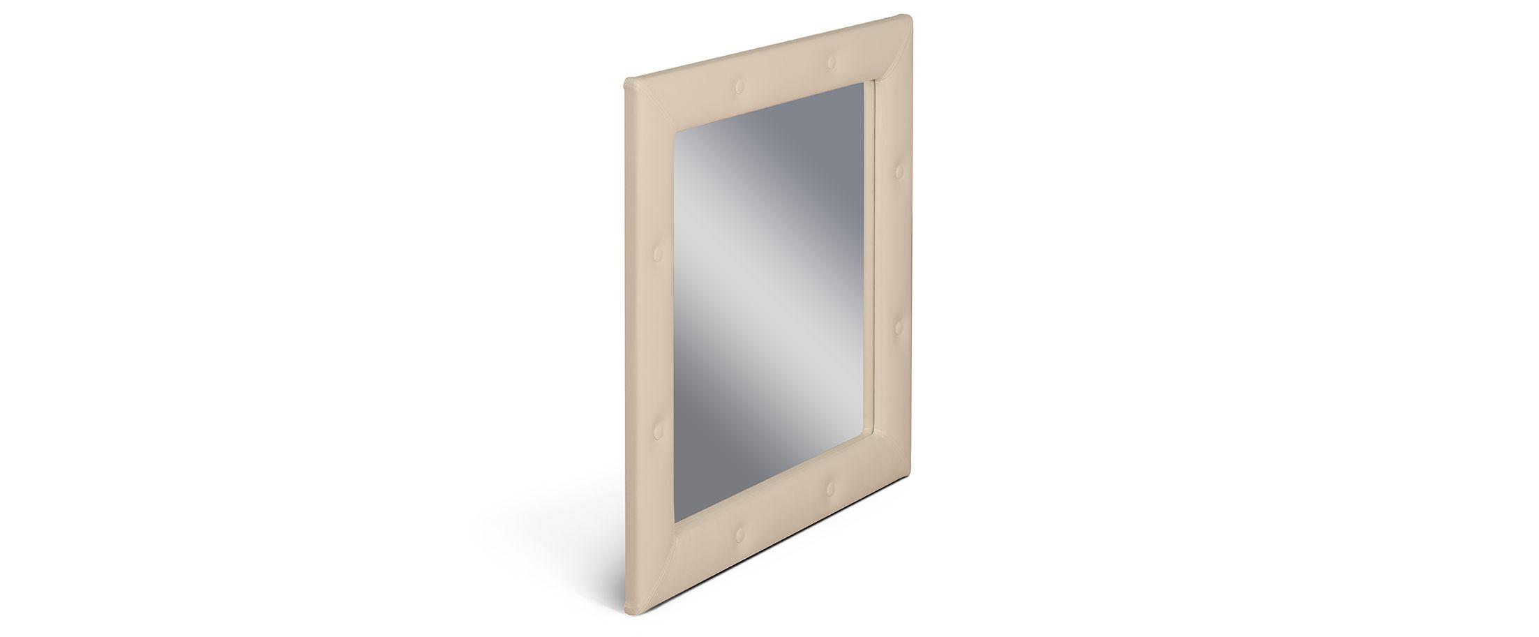 Зеркало Кааба рожьЗеркало навесное в спальню. Обивка из экокожи с декоративными пуговицами. Артикул: К000445<br><br>Ширина см: 86<br>Глубина см: 4<br>Высота см: 86<br>Цвет: Дуб сонома