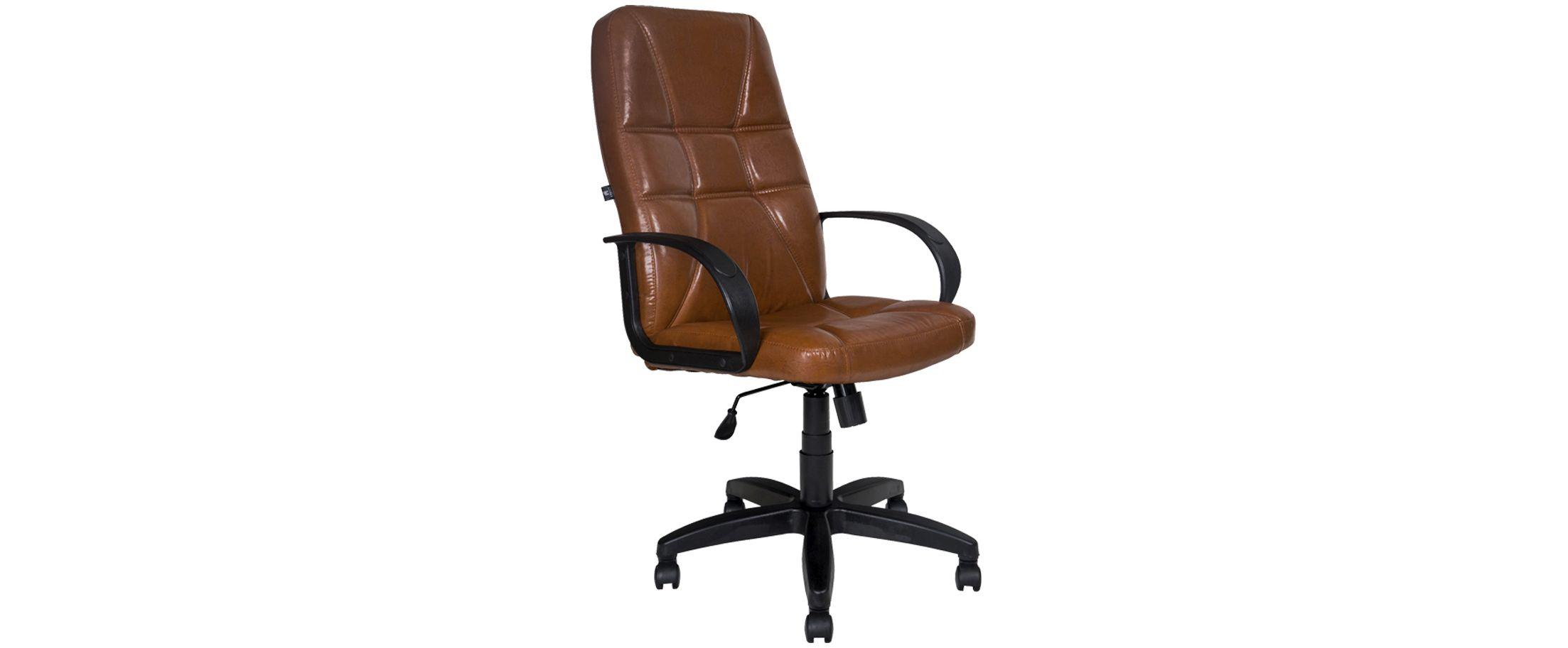 Кресло офисное AV 114 из экокожи цвет коньяк Модель 999Кресло офисное AV 114 из экокожи цвет коньяк Модель 999. Артикул Д000682<br>