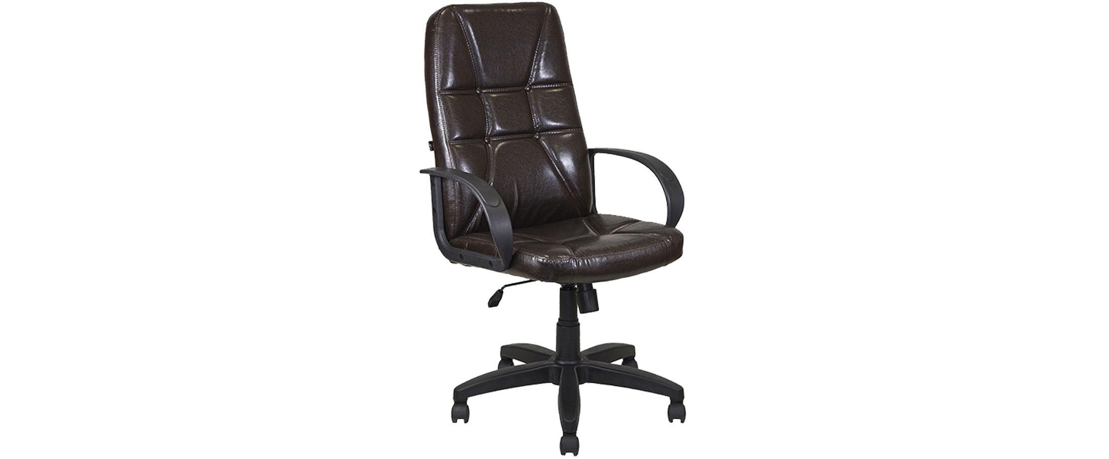 Кресло офисное AV 114 из экокожи цвет шоколад Модель 999Кресло офисное AV 114 из экокожи цвет шоколад Модель 999. Артикул Д000683<br>