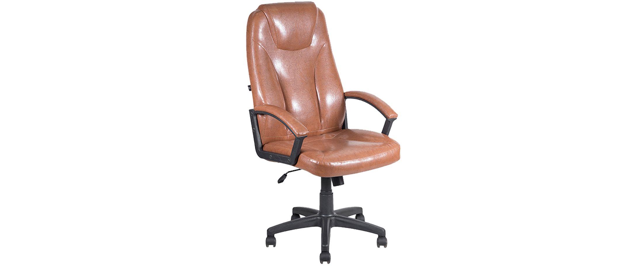 Кресло офисное AV 115 из экокожи цвет коньяк Модель 999Кресло офисное AV 115 из экокожи цвет коньяк Модель 999. Артикул Д000686<br><br>Ширина см: 50<br>Глубина см: 64<br>Высота см: 130<br>Цвет: Красно-коричневый