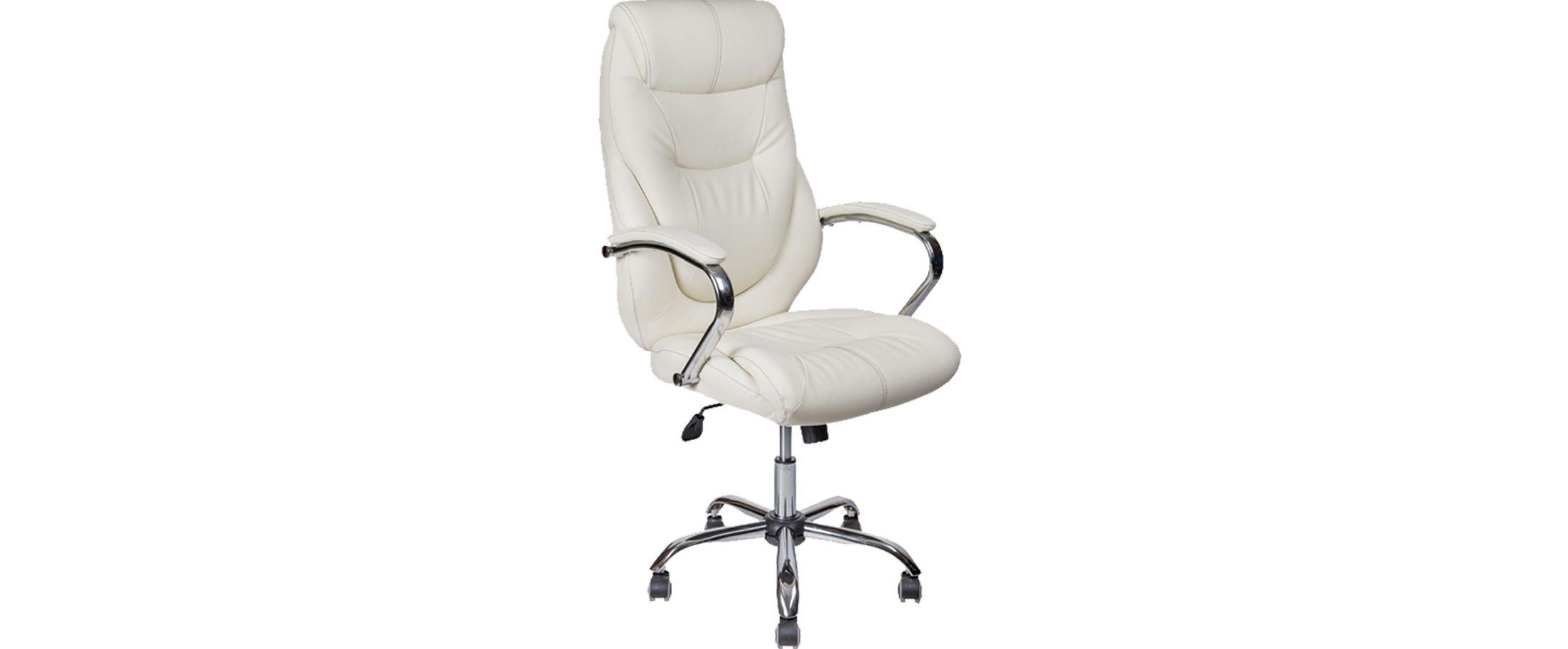 Кресло офисное AV 116 из экокожи цвет белый Модель 999 от MOON TRADE