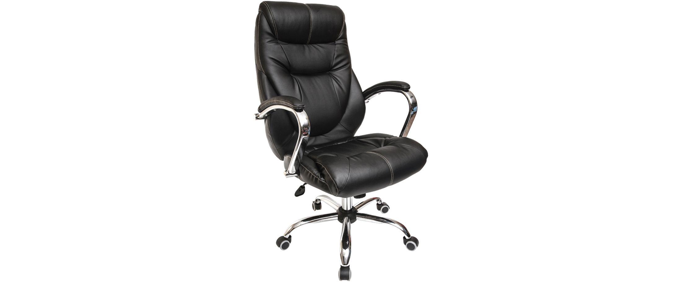 Кресло офисное AV 116 из экокожи цвет черный Модель 999 от MOON TRADE