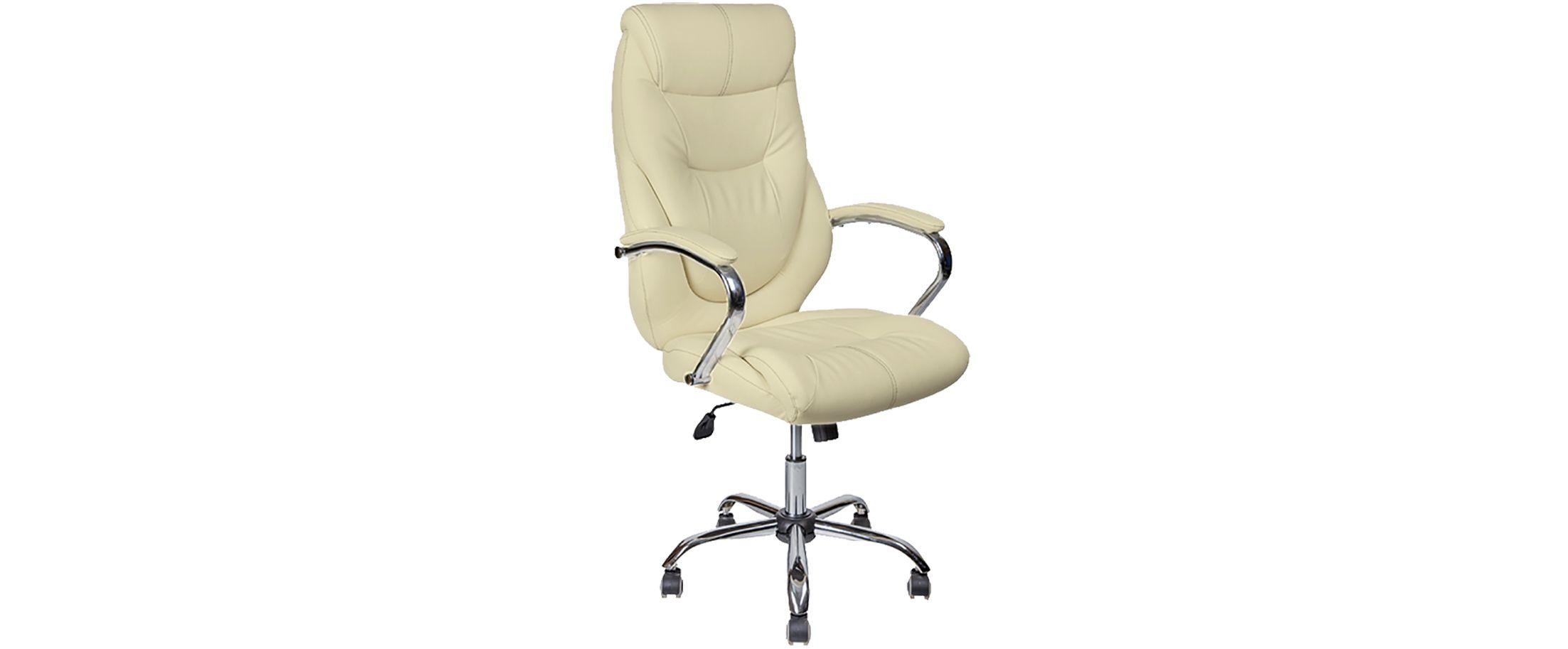 Кресло офисное AV 116 из экокожи цвет слоновая кость Модель 999Кресло офисное AV 116 из экокожи цвет слоновая кость Модель 999. Артикул Д000690<br>