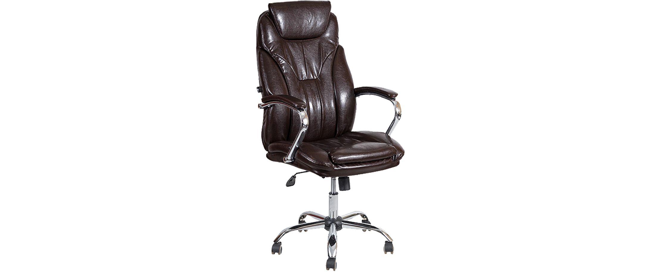 Кресло офисное AV 117 из экокожи цвет шоколад Модель 999 от MOON TRADE
