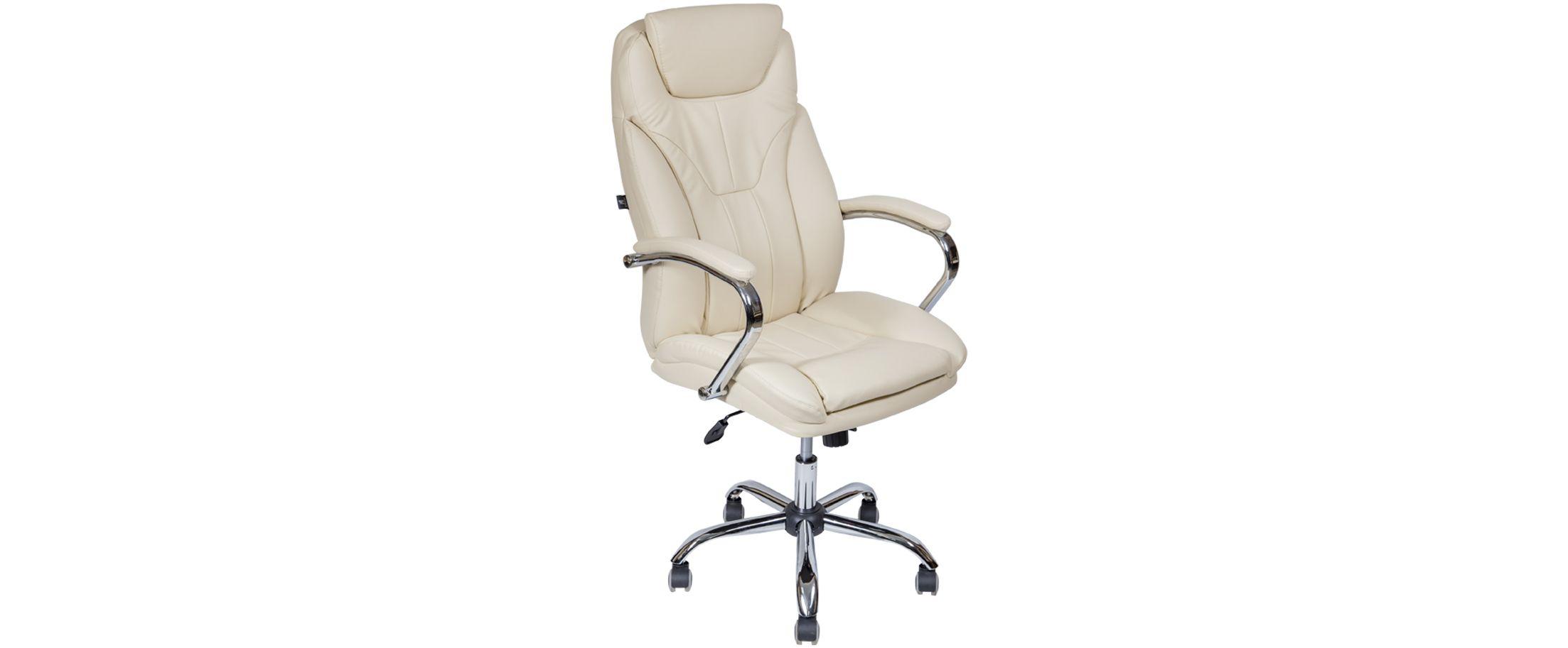 Кресло офисное AV 117 из экокожи цвет слоновая кость Модель 999 от MOON TRADE