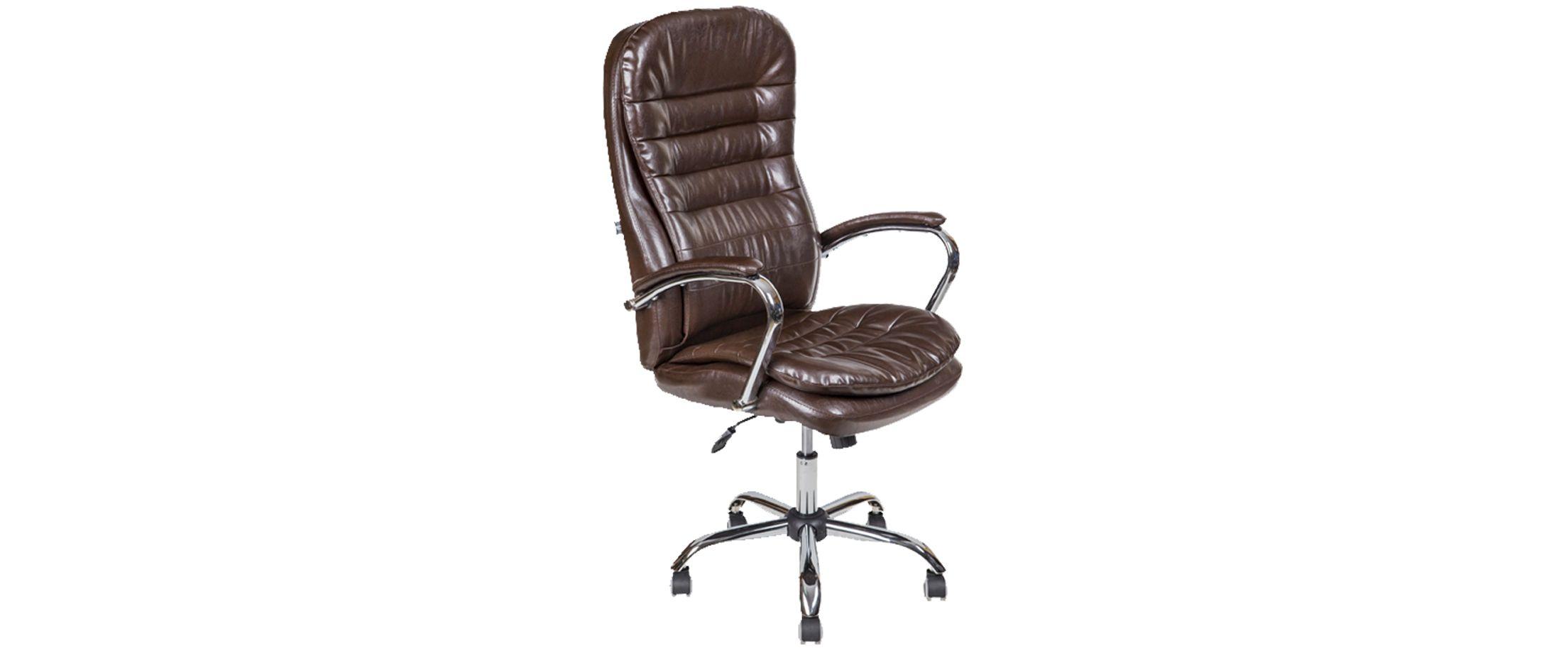 Кресло офисное AV 118 из экокожи цвет шоколад Модель 999 от MOON TRADE