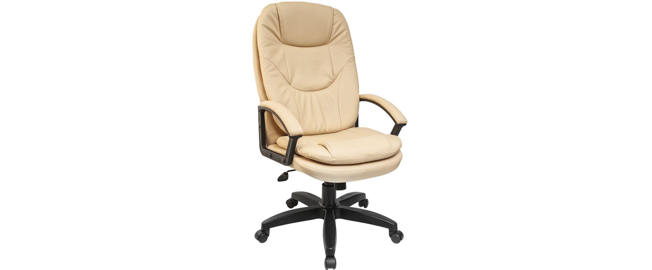 Кресло офисное AV 121 из экокожи цвет слоновая кость Модель 999Кресло офисное AV 121 из экокожи цвет слоновая кость Модель 999. Артикул Д000702<br>