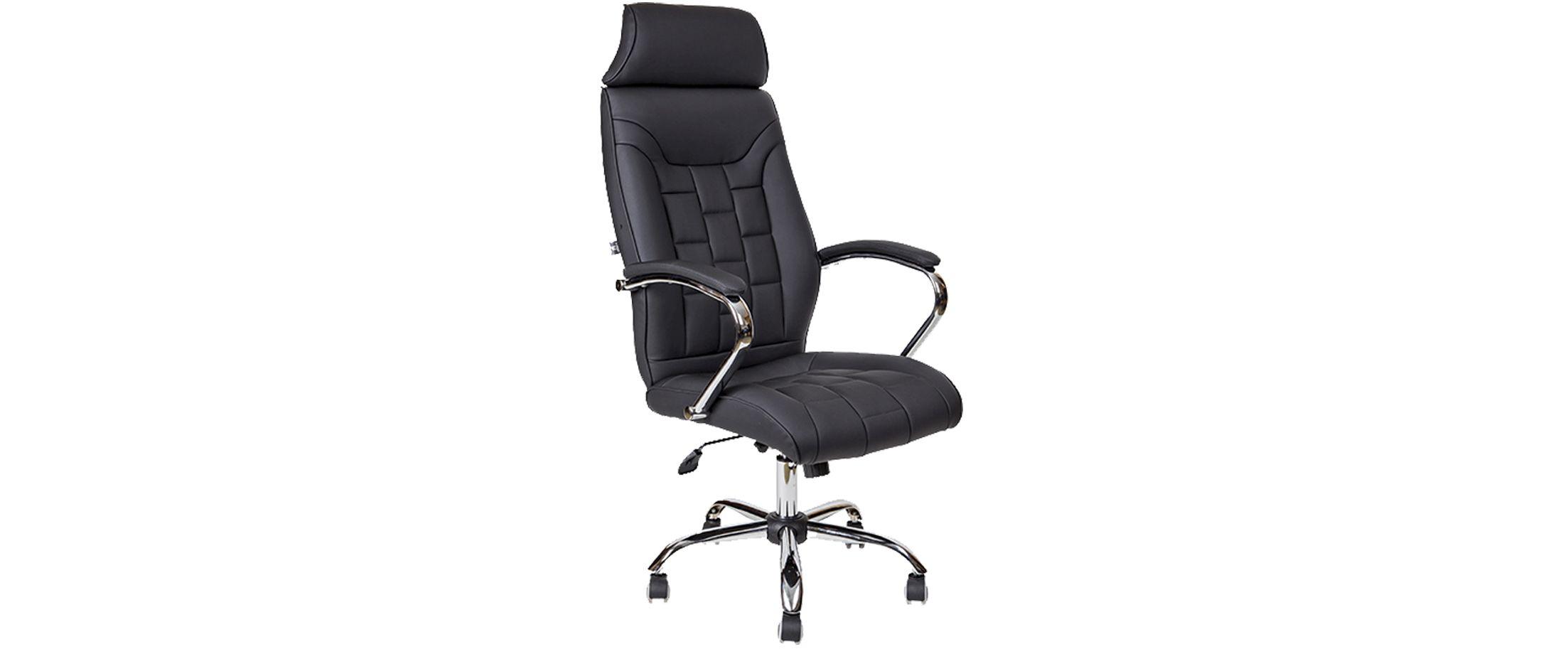 Кресло офисное AV 130 из экокожи цвет черный Модель 999Кресло офисное AV 130 из экокожи цвет черный Модель 999. Артикул Д000719<br>