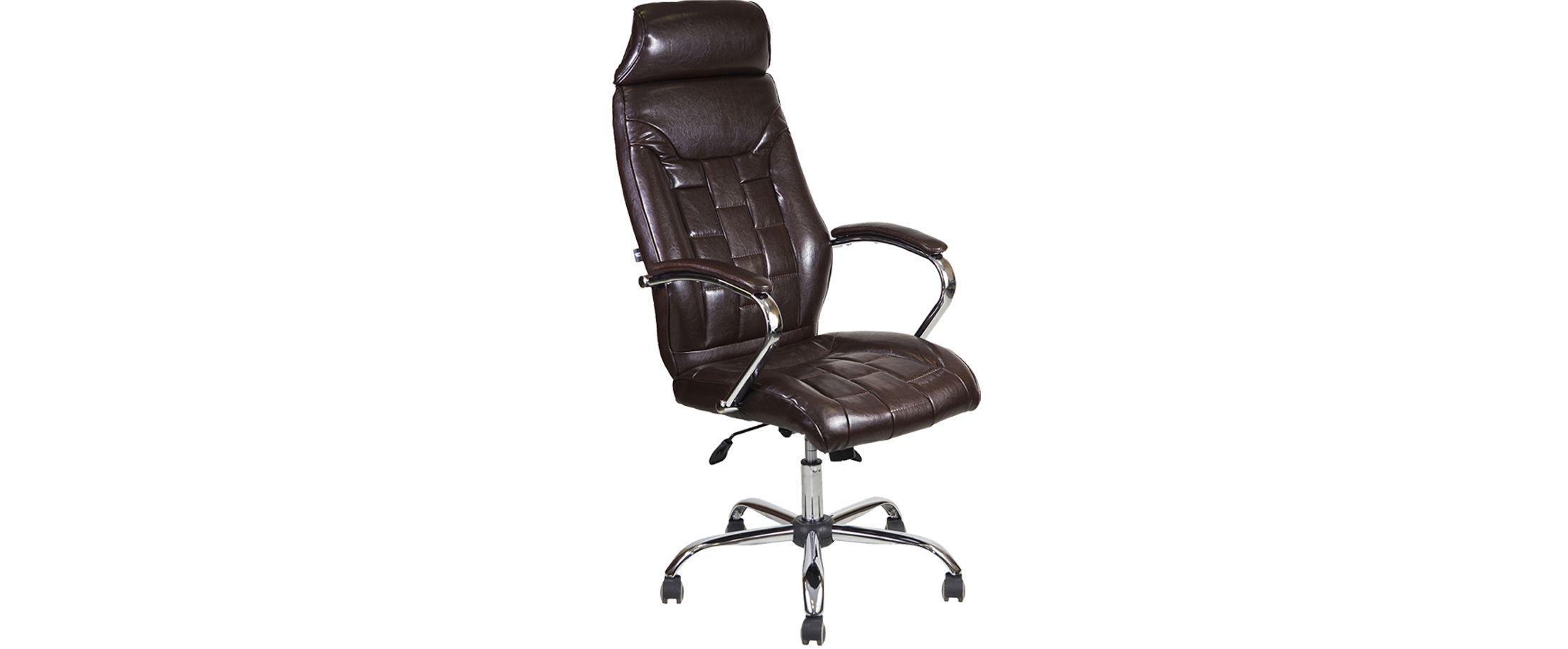 Кресло офисное AV 130 из экокожи цвет шоколад Модель 999Кресло офисное AV 130 из экокожи цвет шоколад Модель 999. Артикул Д000718<br>