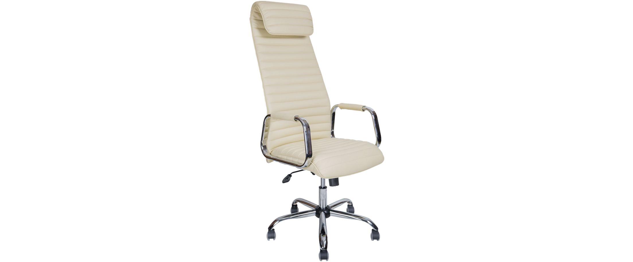 Кресло офисное AV 131 из экокожи цвет слоновая кость Модель 999Кресло офисное AV 131 из экокожи цвет слоновая кость Модель 999. Артикул Д000721<br>