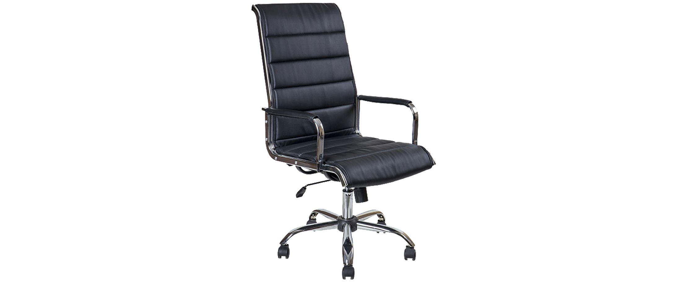 Кресло офисное AV 137 из экокожи цвет черный Модель 999Кресло офисное AV 137 из экокожи цвет черный Модель 999. Артикул Д000735<br><br>Ширина см: 50<br>Глубина см: 60<br>Высота см: 120<br>Цвет: Черный