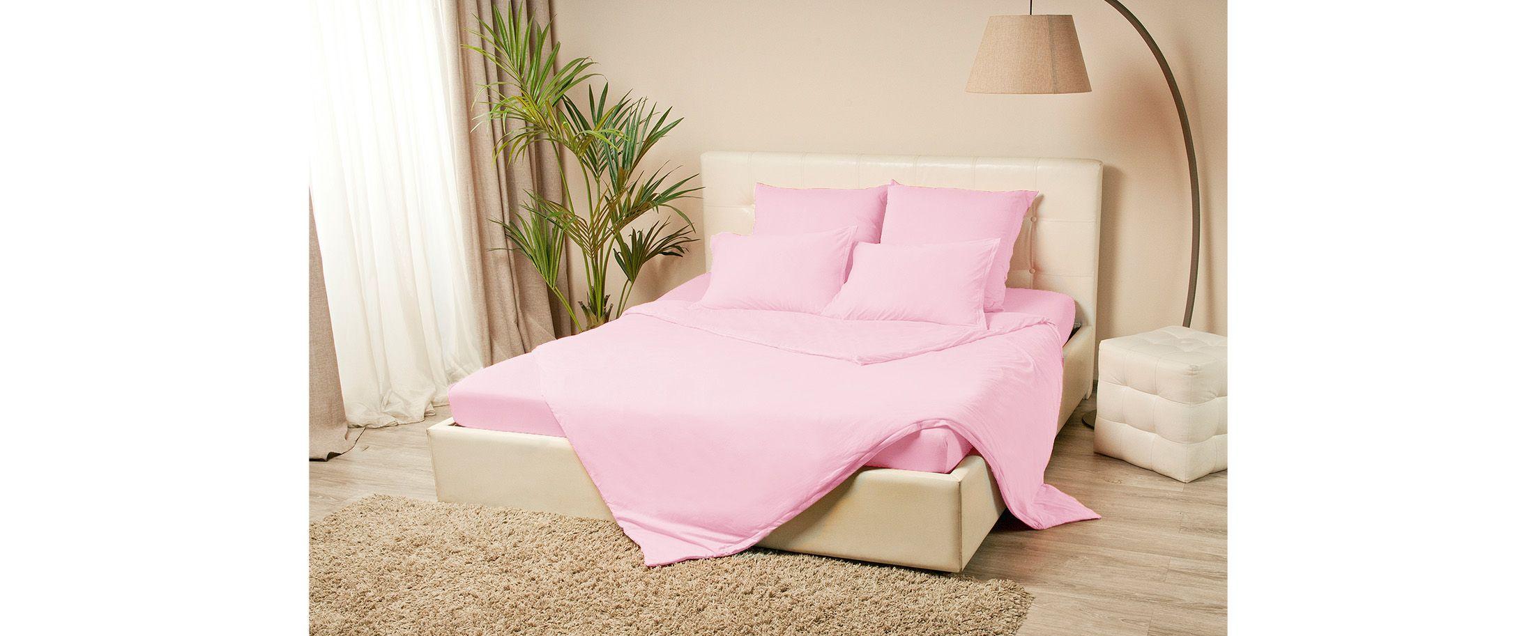 Простыня трикотажная на резинке 200х200 розового цвета Violett Модель 4000