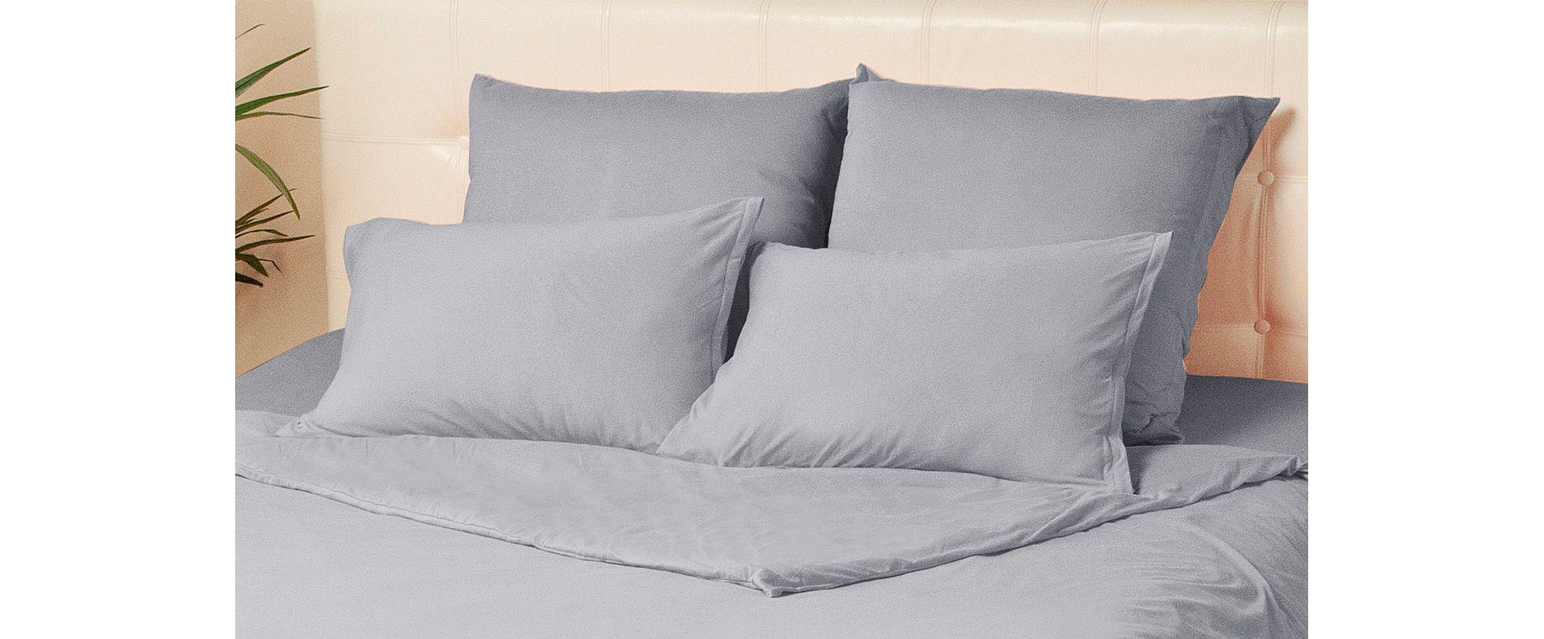 Комплект наволочек на молнии 50х70 цвета серый меланж Violett Модель 4002 от MOON TRADE