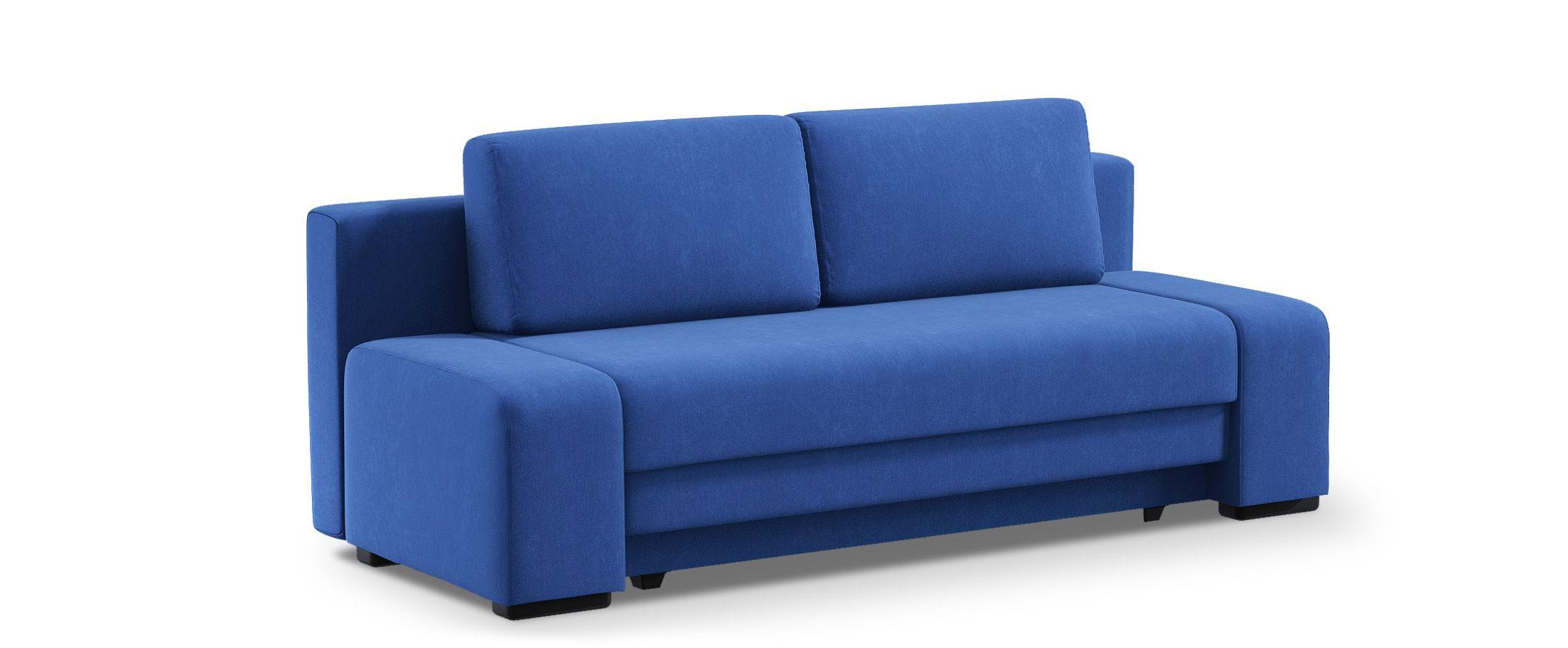Диван прямой еврокнижка Токио 009Гостевой вариант и полноценное спальное место. Размеры 205х93х89 см. Купить синий диван еврокнижка в интернет-магазине MOON TRADE.