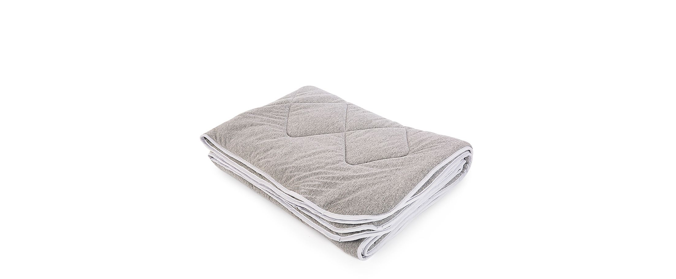 Одеяло трикотажное Бамбук серый меланж 140х205 Модель 4006 от MOON TRADE