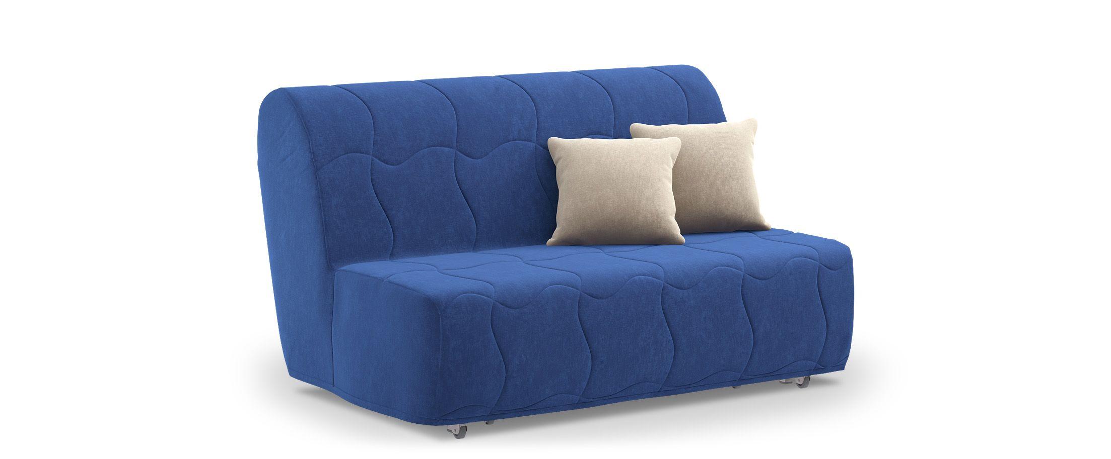 Диван прямой аккордеон Сити 023Гостевой вариант и полноценное спальное место. Размеры 146х107х91 см. Купить синий диван аккордеон в интернет-магазине MOON TRADE.<br>