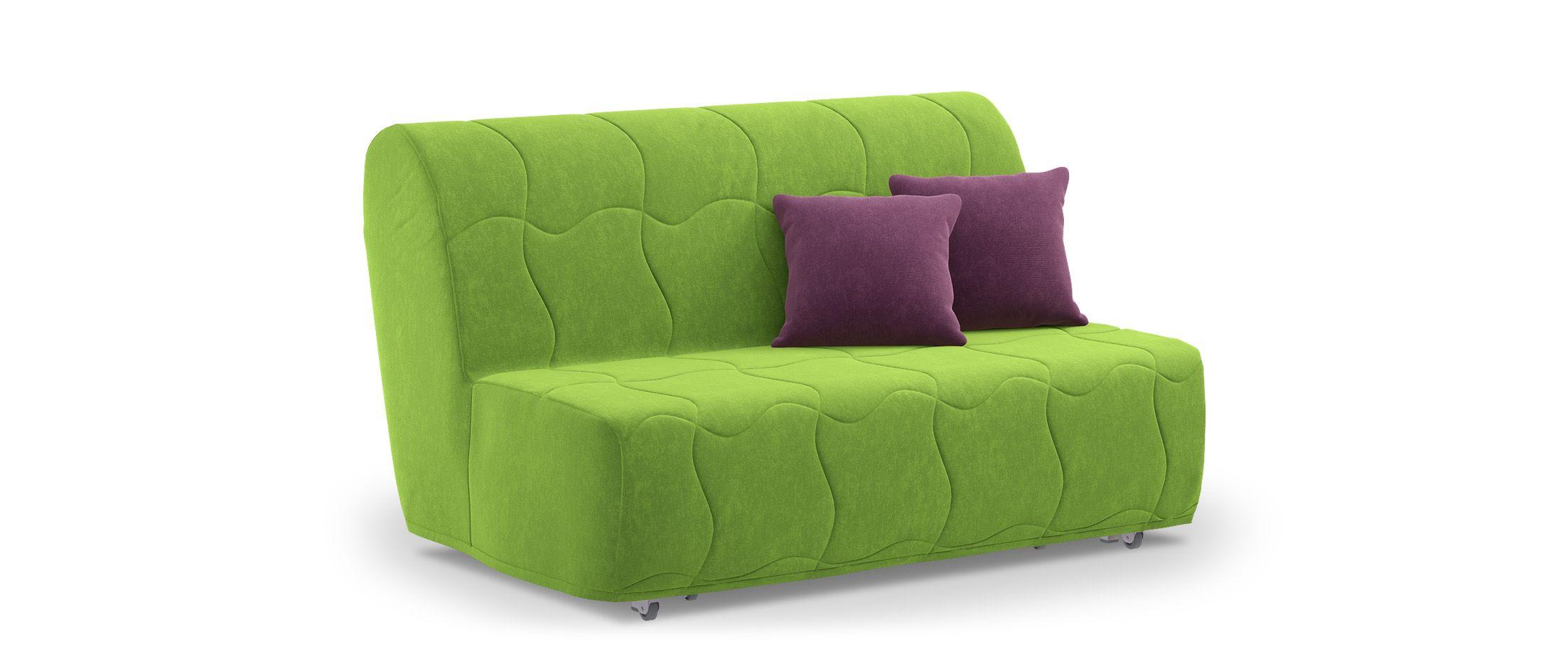 Диван прямой аккордеон Сити 023Гостевой вариант и полноценное спальное место. Размеры 146х107х91 см. Купить зелёный диван аккордеон в интернет-магазине MOON TRADE.<br>