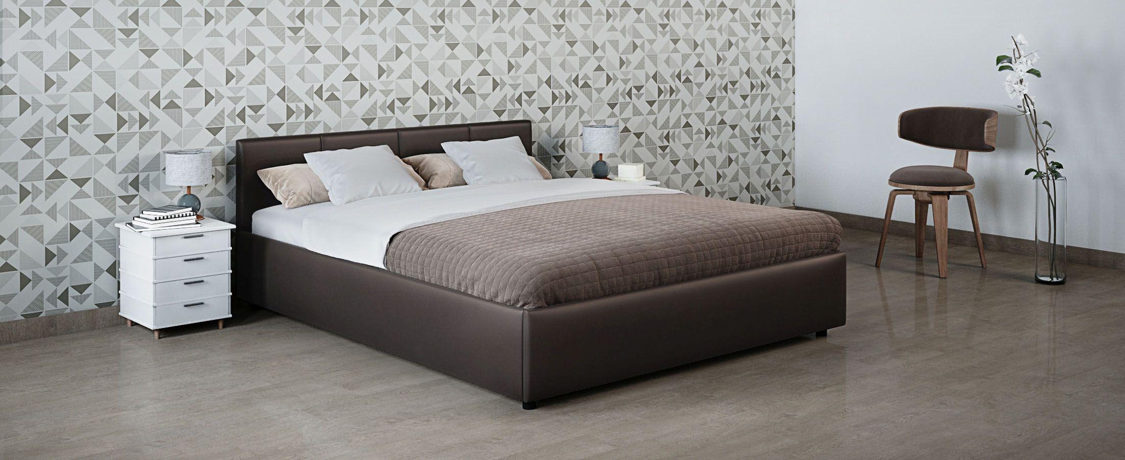 Кровать двуспальная Прима 140х200 Модель 1200Кровать Прима -  элегантное и практичное решение по доступной цене.  Продуманный до мелочей дизайн кровати прекрасно подойдет для любого интерьера.<br>