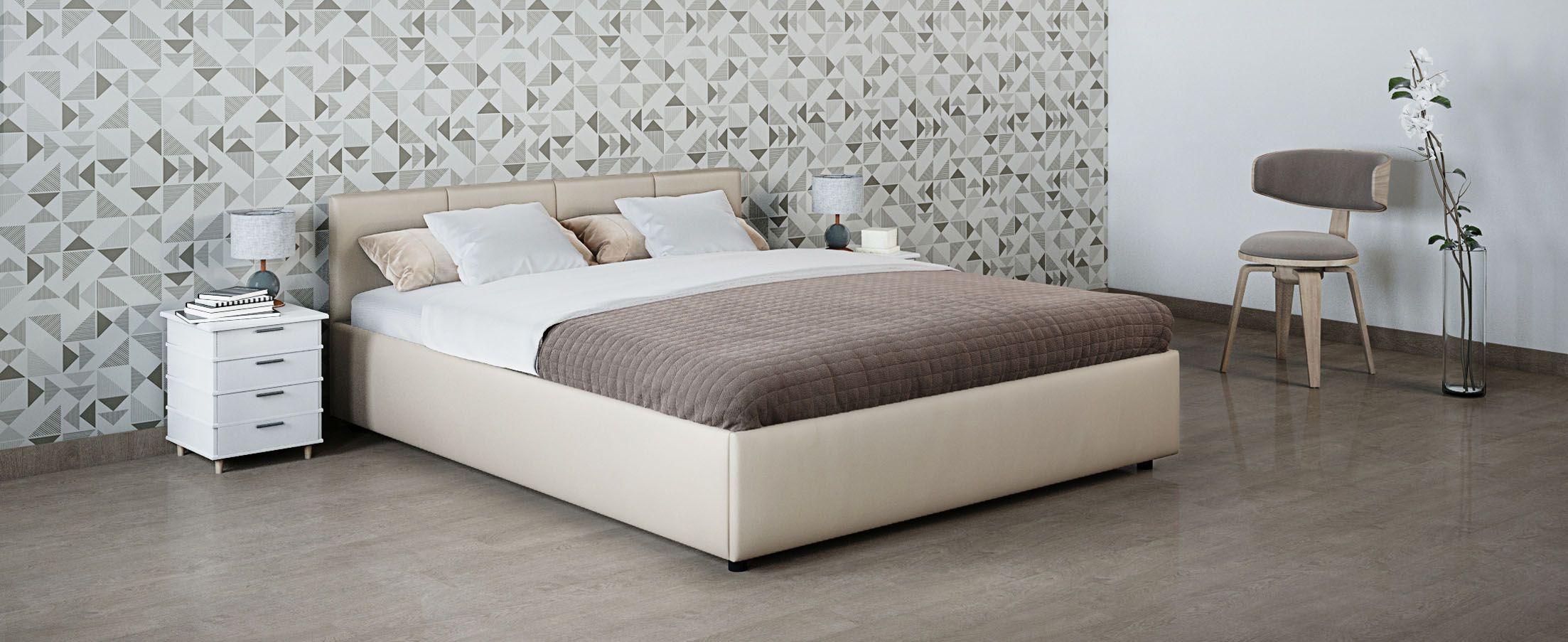 Кровать двуспальная Прима 160х200 Модель 1200Кровать Прима -  элегантное и практичное решение по доступной цене.  Продуманный до мелочей дизайн кровати прекрасно подойдет для любого интерьера.<br>