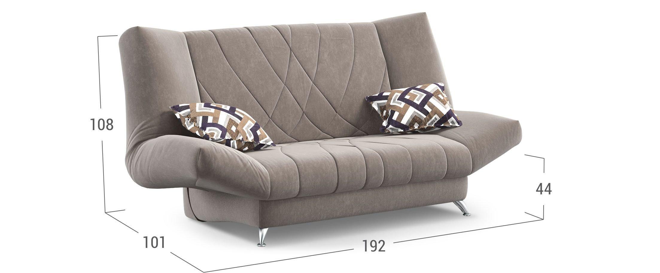 диван прямой клик кляк коричневый санта Next 036 купить в москве в