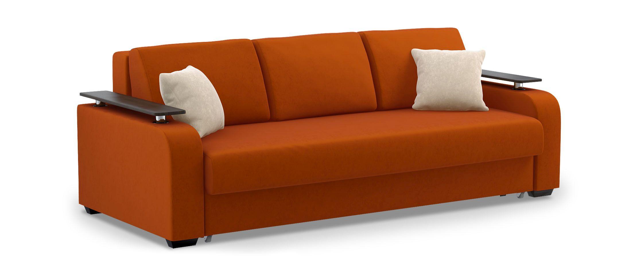 Диван прямой еврокнижка Марракеш 044Гостевой вариант и полноценное спальное место. Размеры 237х108х88 см. Купить коричневый диван еврокнижка в интернет-магазине MOON TRADE.<br>